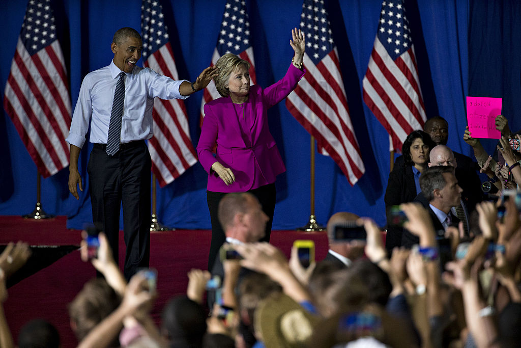 President Barack Obama Campaigns With Presumptive Democratic Presidential Nominee Hillary Clinton