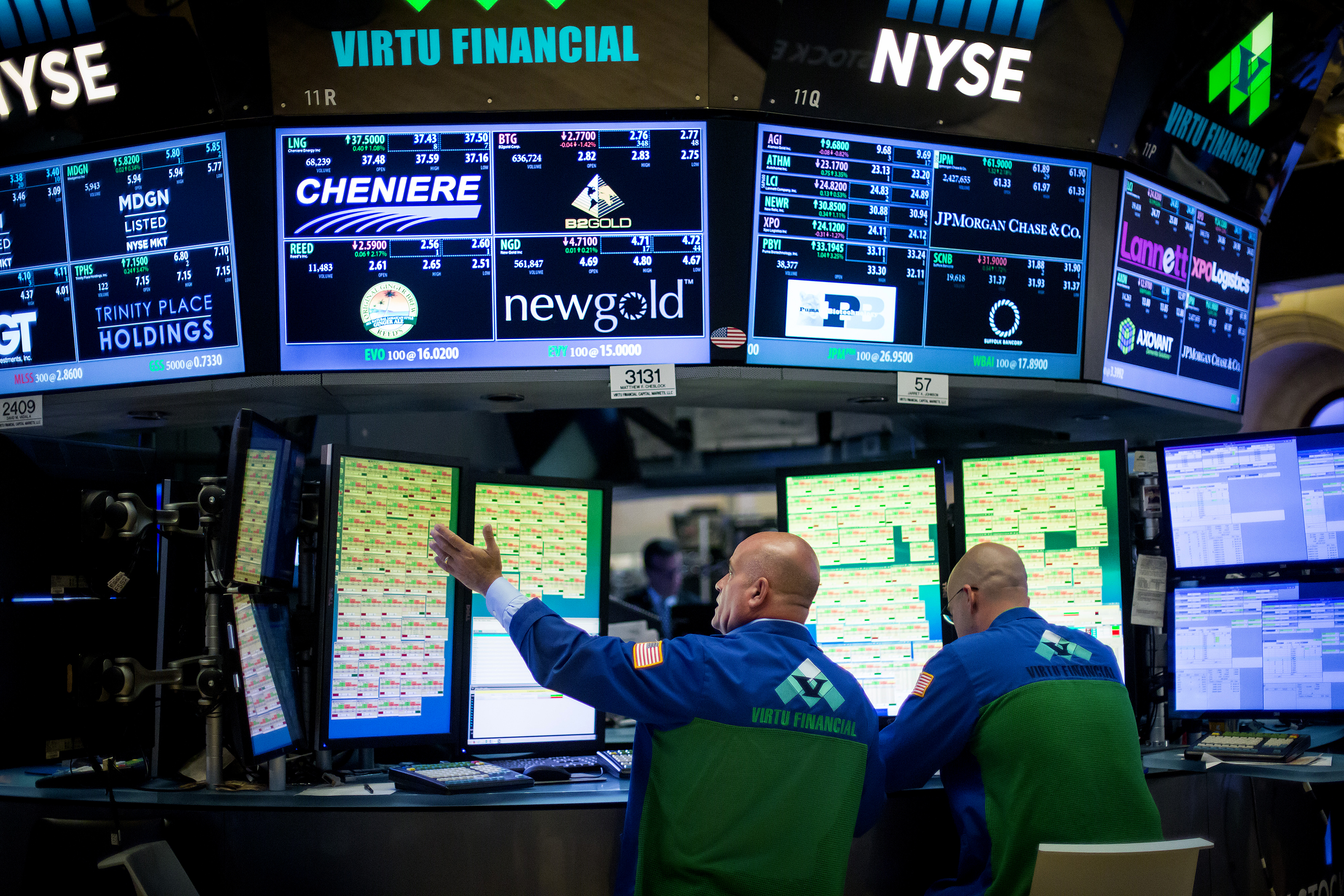 Trading On The Floor Of The NYSE As U.S. Stocks Rise Amid Stronger Job Gains Boost Optimism On Economy