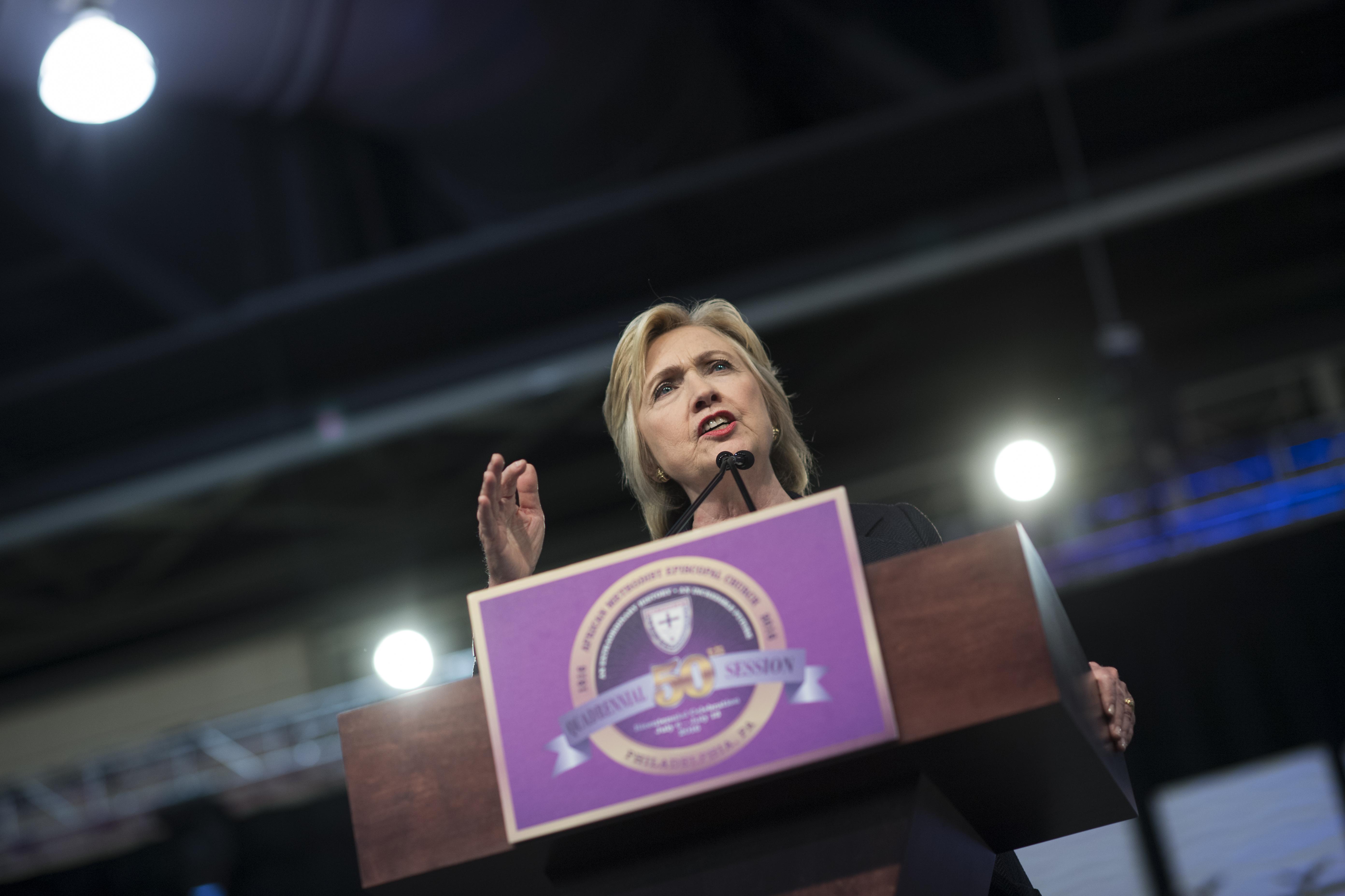 Hillary Clinton at AME