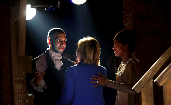 """Hillary Clinton Attends Special Performance Of """"Hamilton"""" For Hillary Victory Fund"""