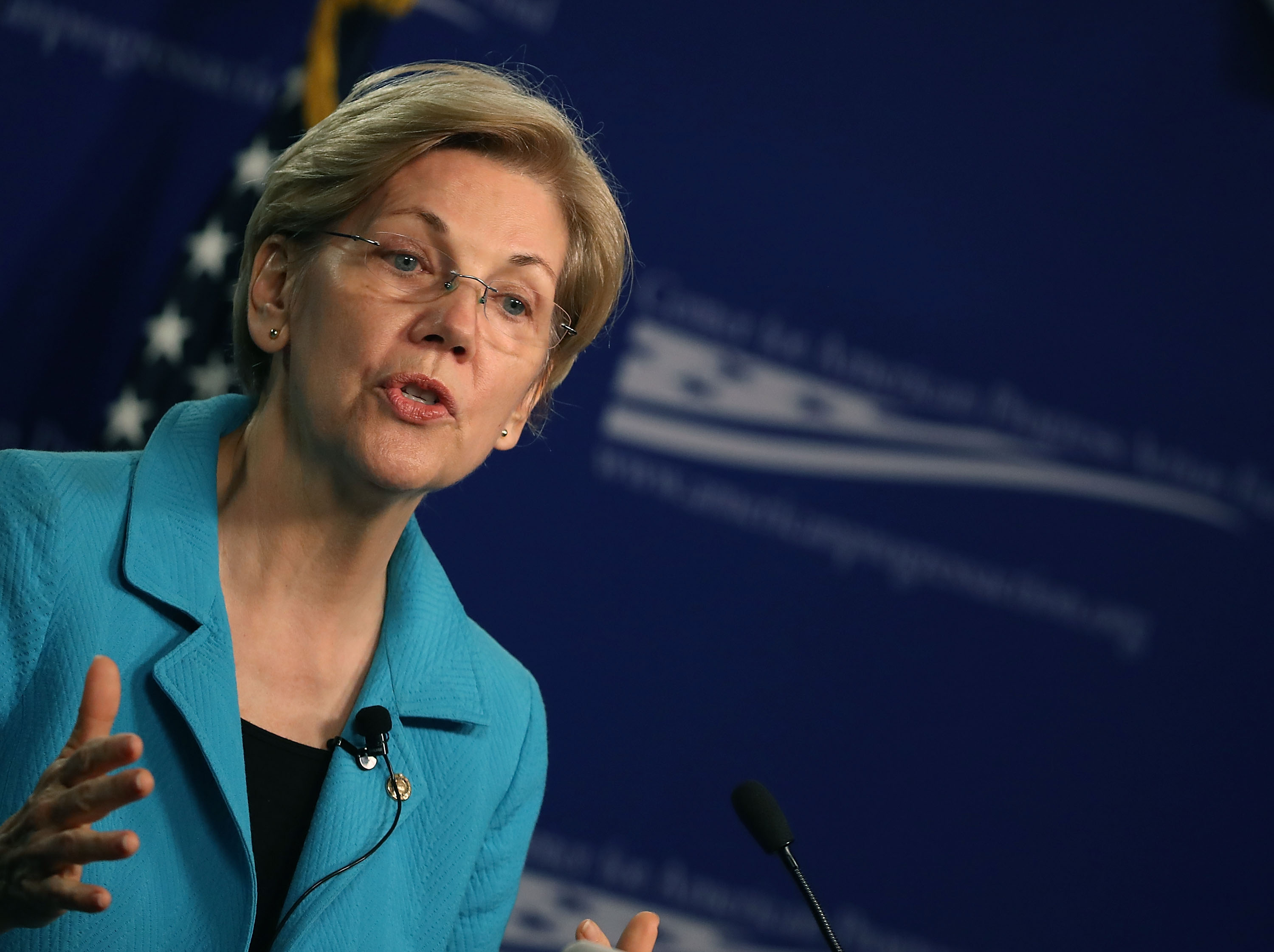 Sen. Elizabeth Warren (D-MA) Speaks At The Center For American Progress On The American Middle Class