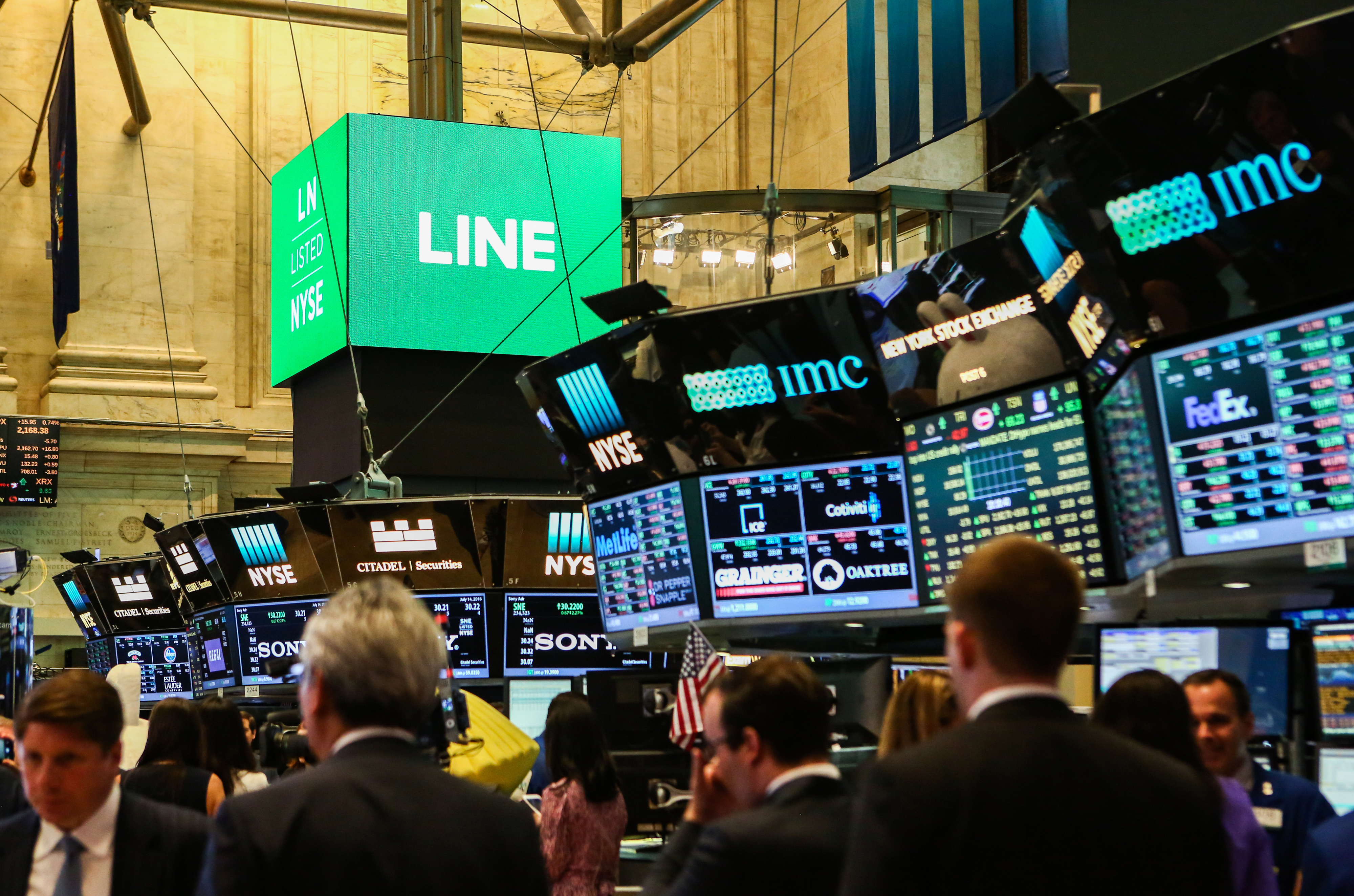 Trading On The Floor Of The NYSE As Line Corp. Debuts IPO
