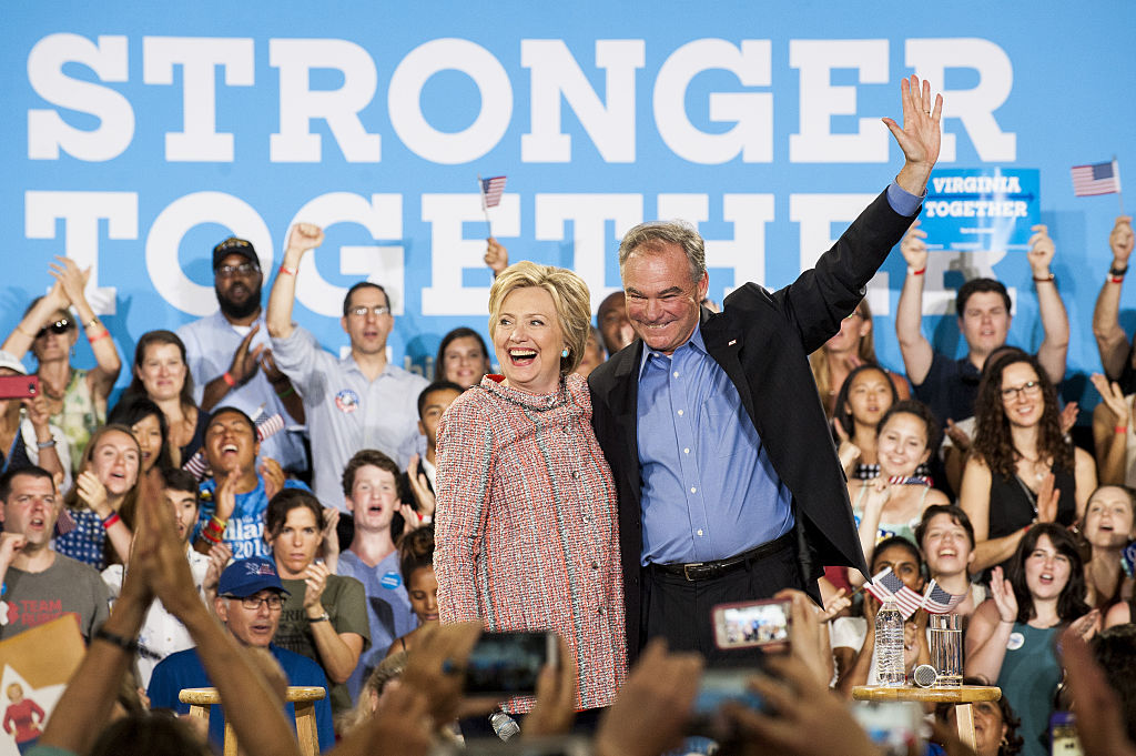 Presumptive Democratic Presidential Nominee Hillary Clinton Campaigns With Senator Tim Kaine