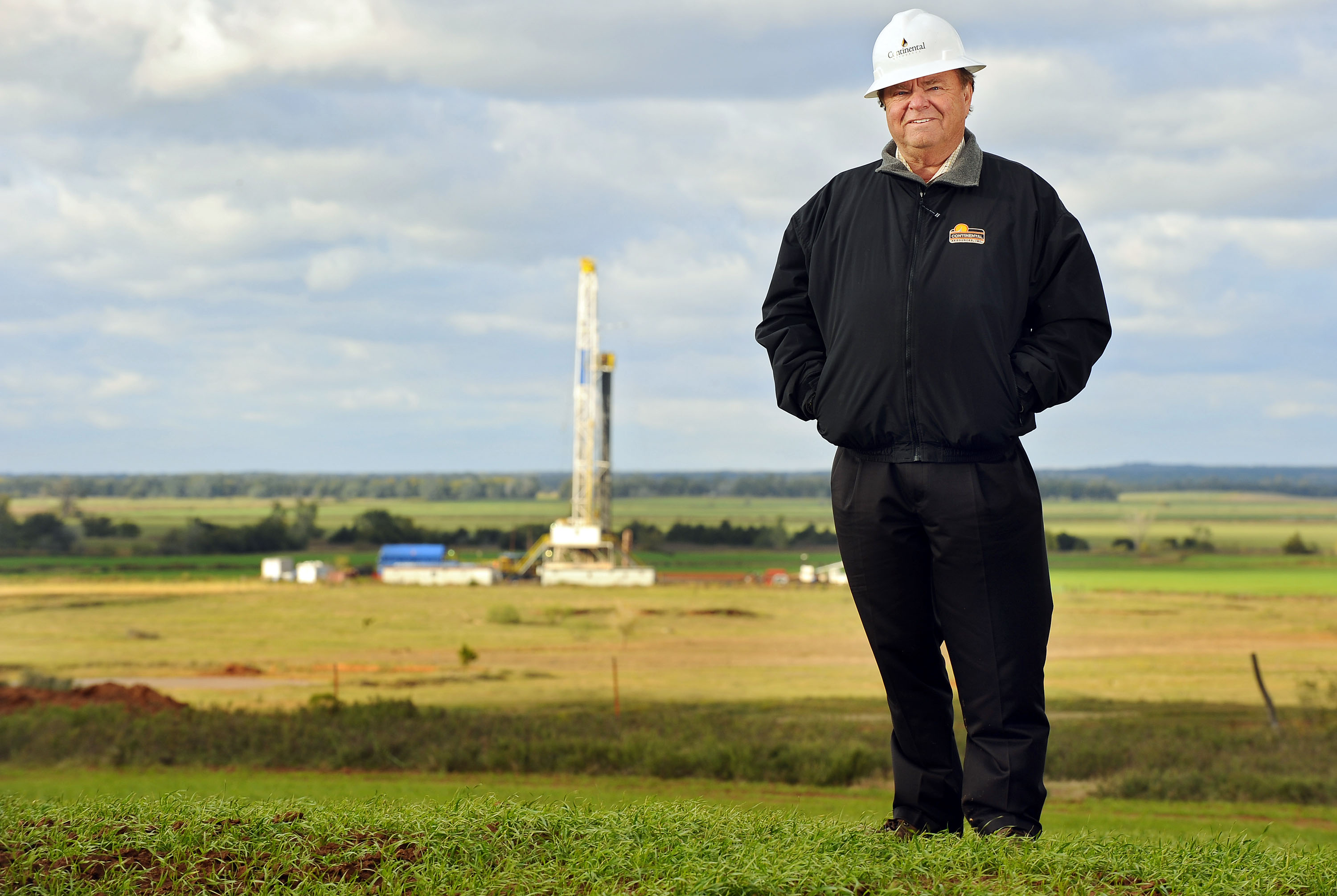 Harold Hamm, chairman of Continental Resources Inc., stands