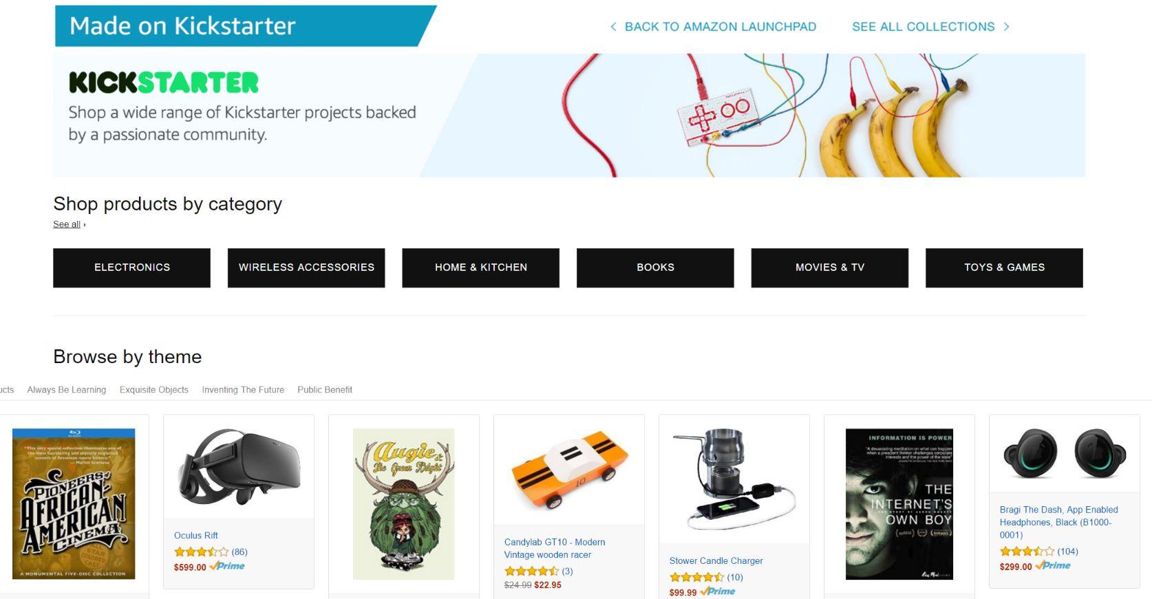 Amazon's Kickstarter Collection