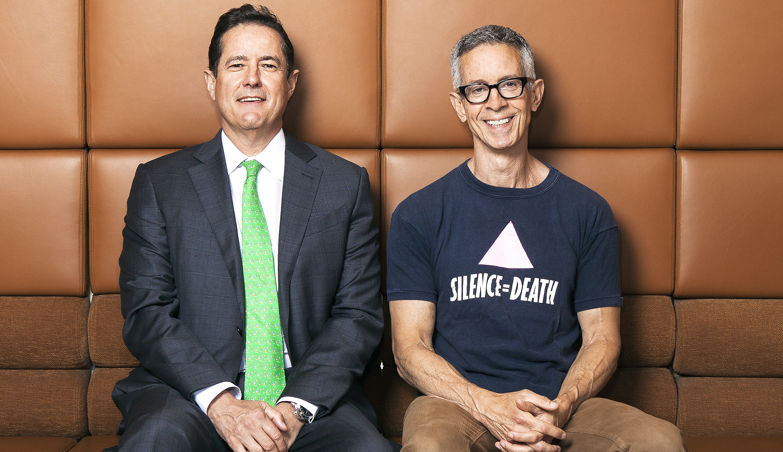 Barclays CEO Jes Staley (left) became a supporter of his brother Peter's mission.