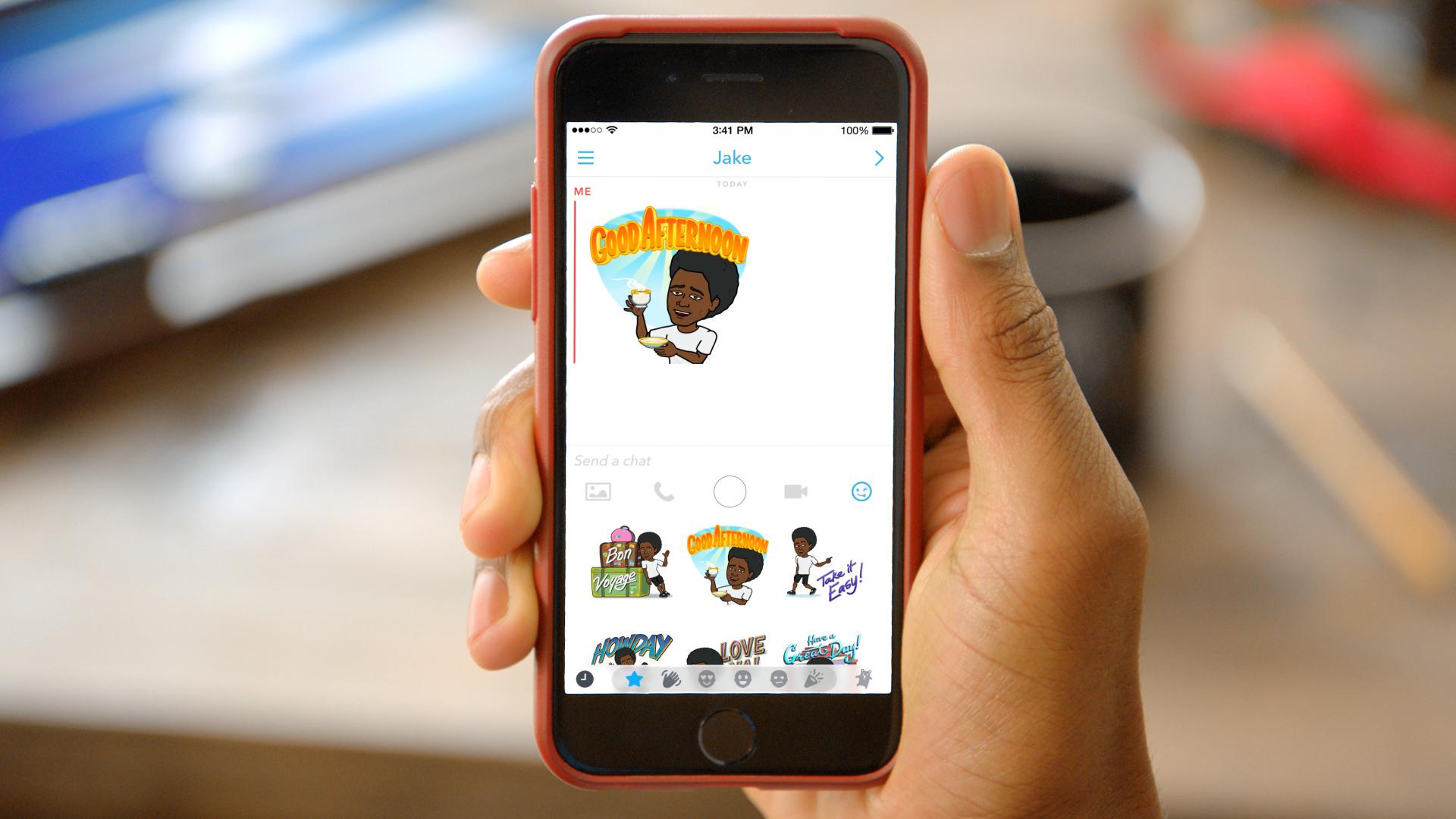 Bitmoji used inside Snapchat.
