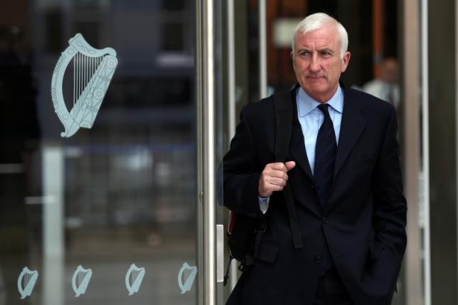Former group chief executive of Irish Life and Permanent, Denis Casey, departs the Criminal Courts of Justice in Dublin