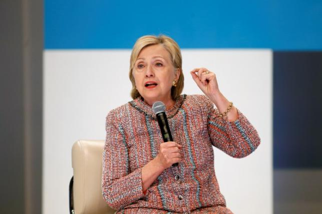 Democratic Presidential Candidate Hillary Clinton speaks at a town hall discussion with digital content creators in Los Angeles, California
