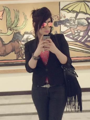 "Social media celebrity Qandeel Baloch, who was strangled in what appeared to be an ""honour killing,"" in Multan, Pakistan, is pictured in a selfie on her Facebook page"