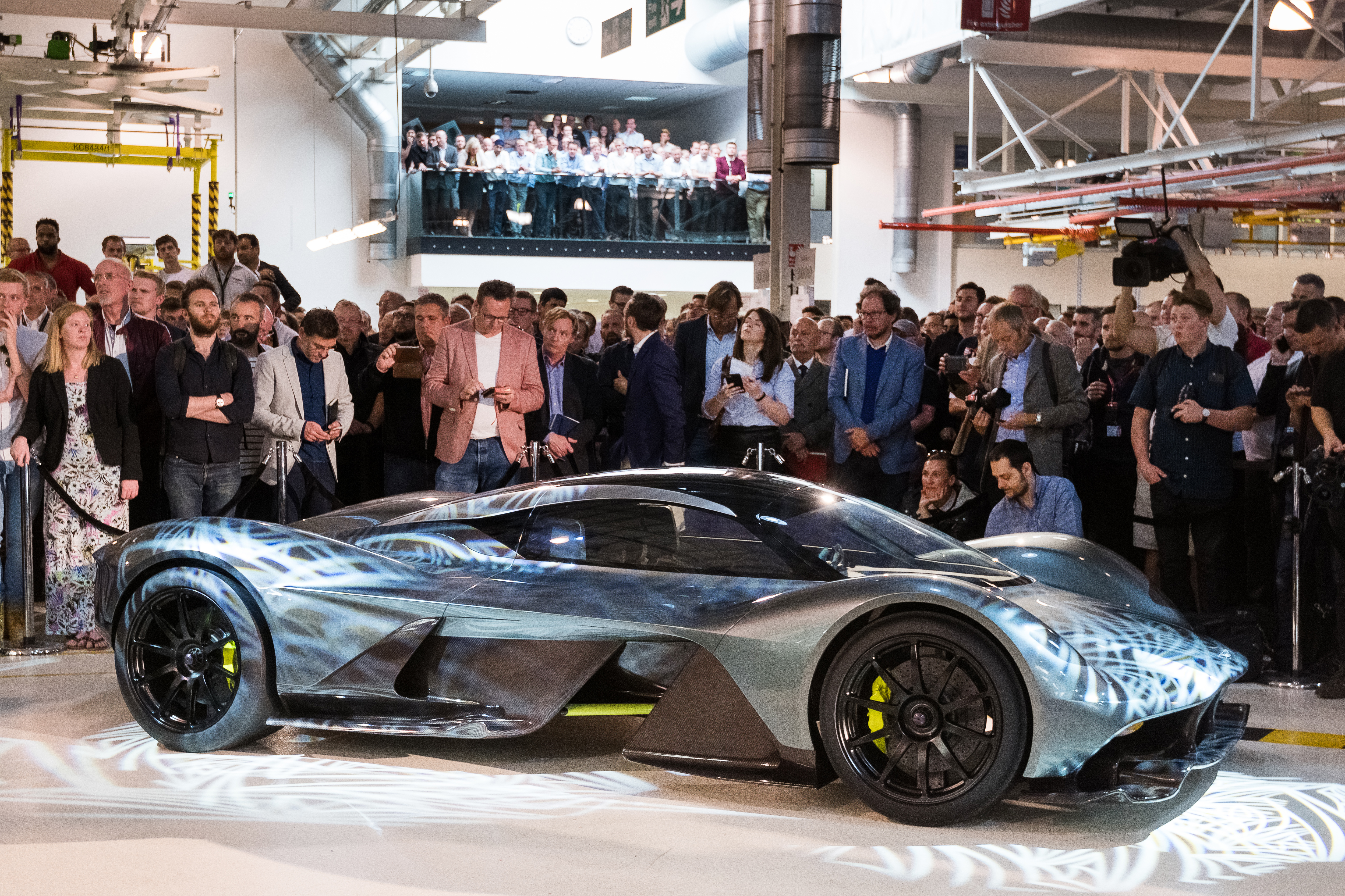 Aston Martin and Red Bull unveil its hypercar, which will go into production in 2018.