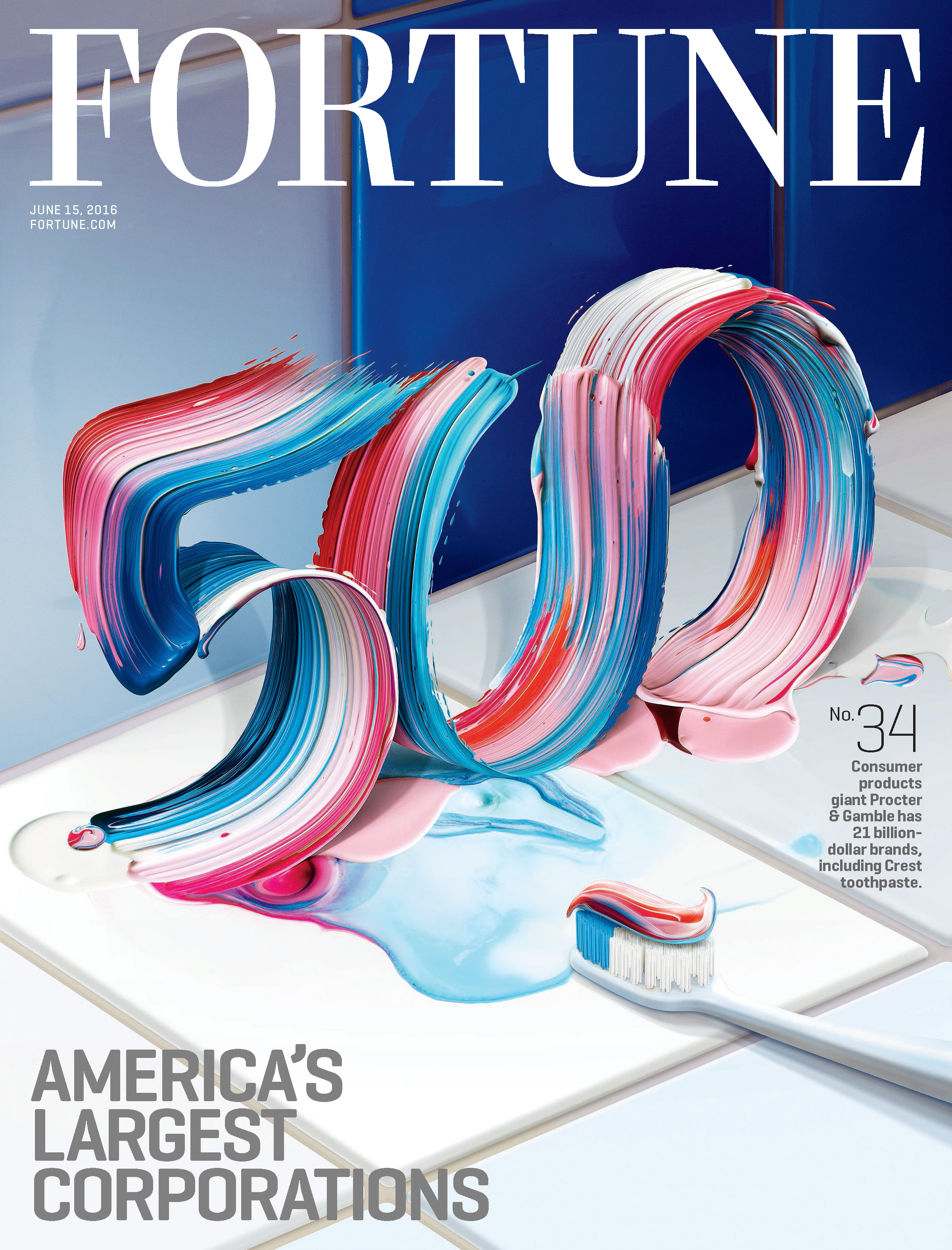 Fortune magazine cover: 500 issue: July 15, 2016