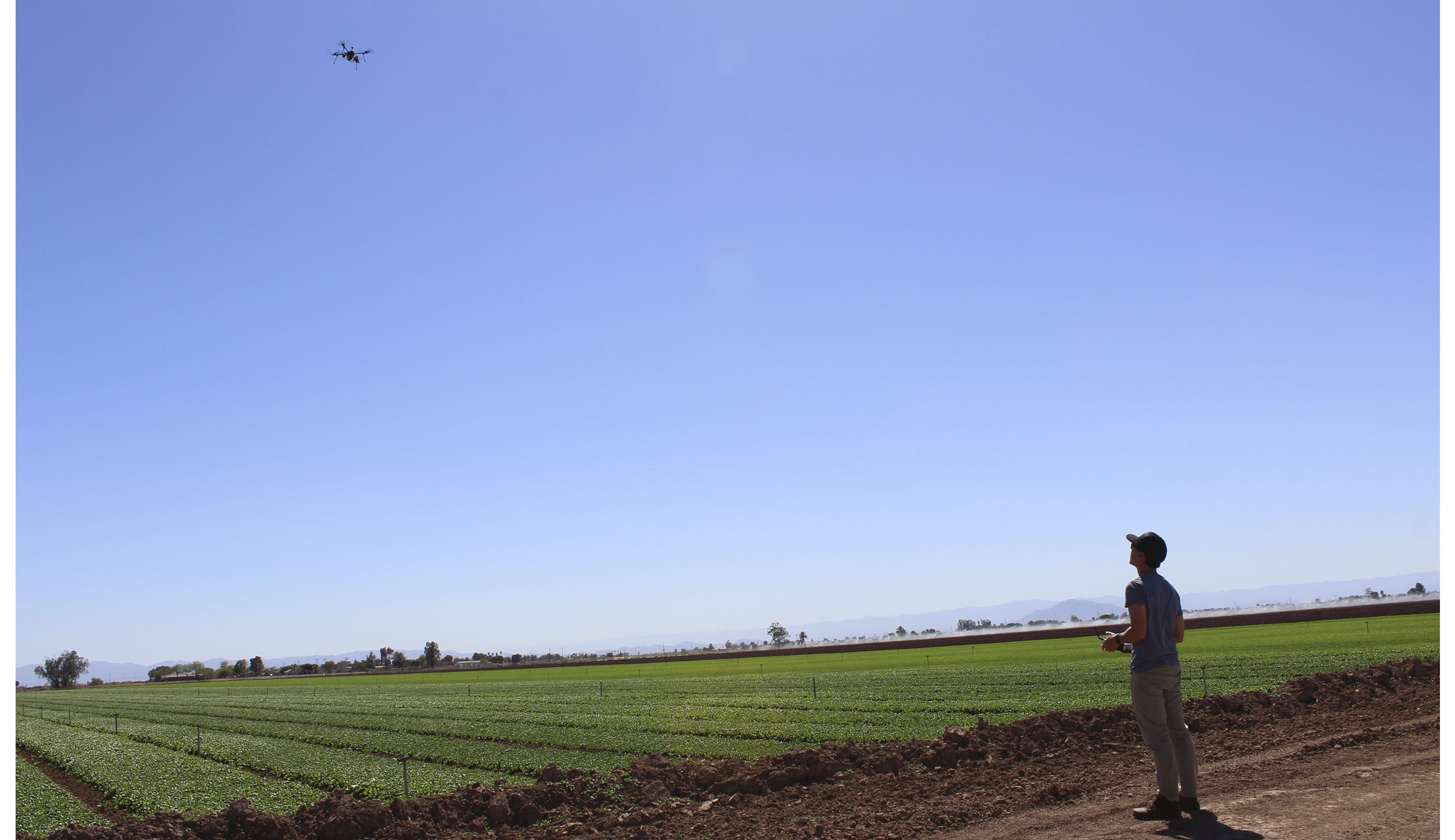 A drone with Slant Range sensors gives metrics to impove crop health.