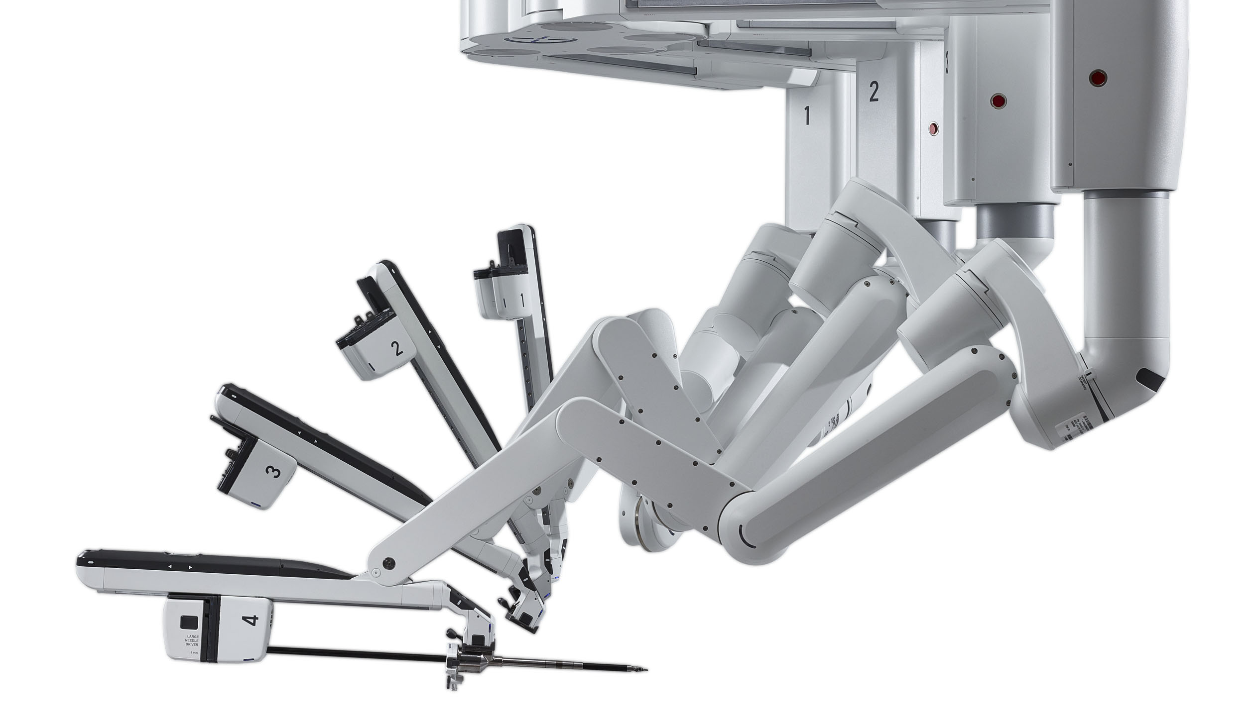 Detail of an arm on the da Vinci surgery system