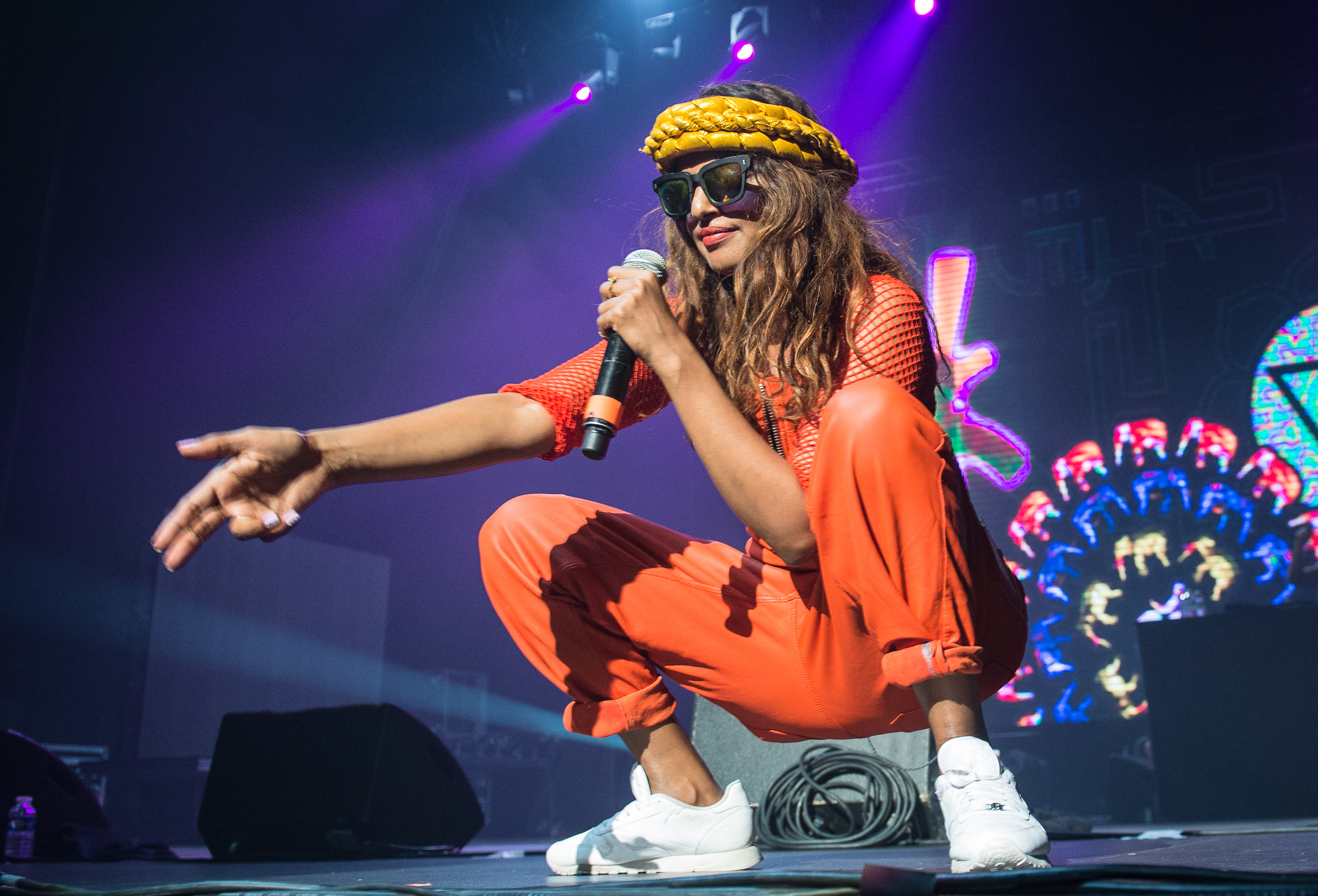 M.I.A. And Nas Performs At Festival Paris HIP HOP 2014 At Zenith