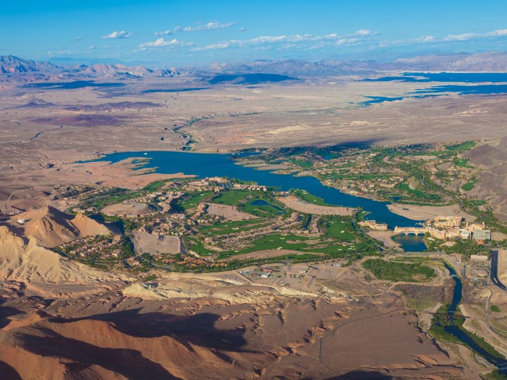 Lake Las Vegas aerial photo