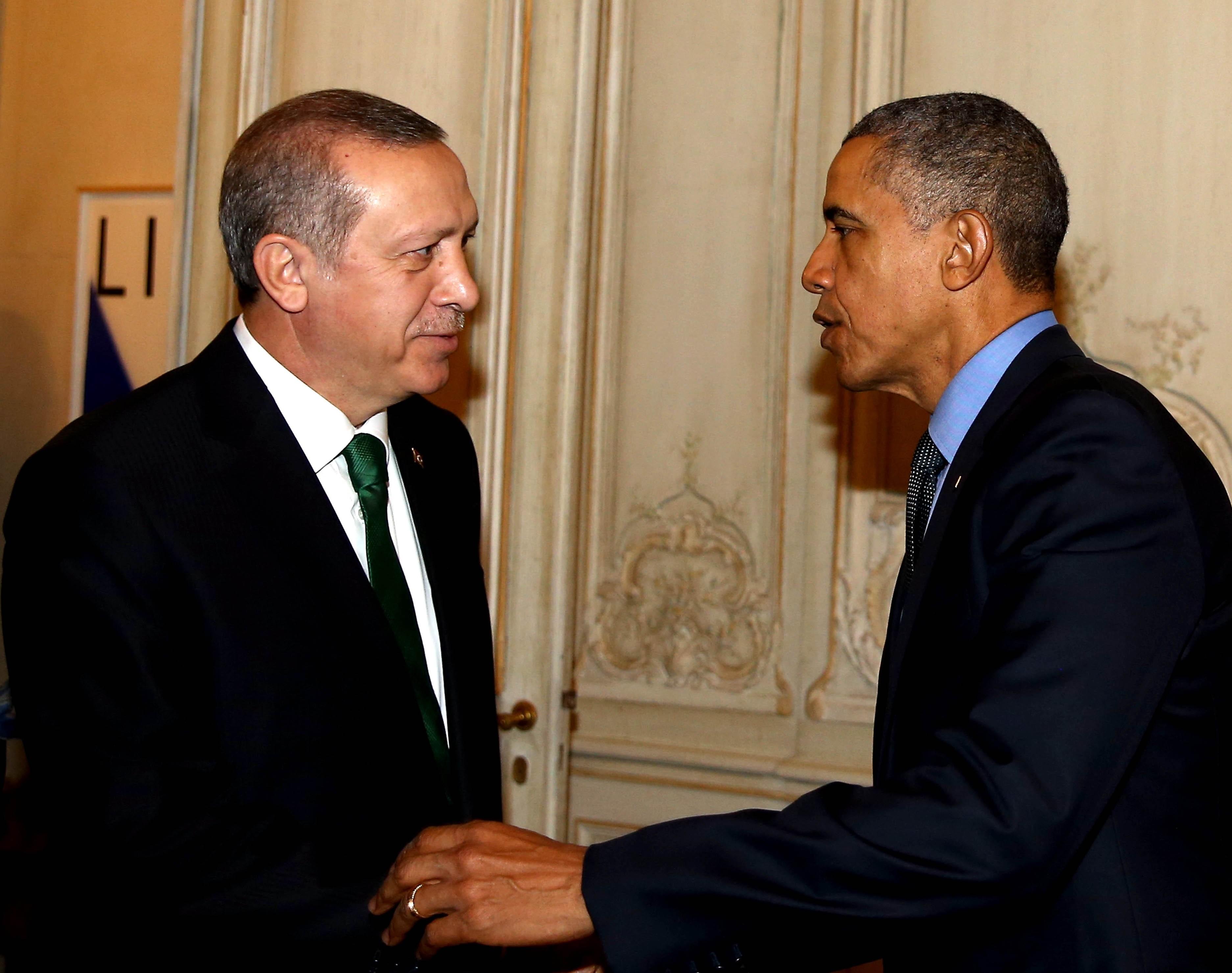 Recep Tayyip Erdogan - Barack Obama meeting in Paris