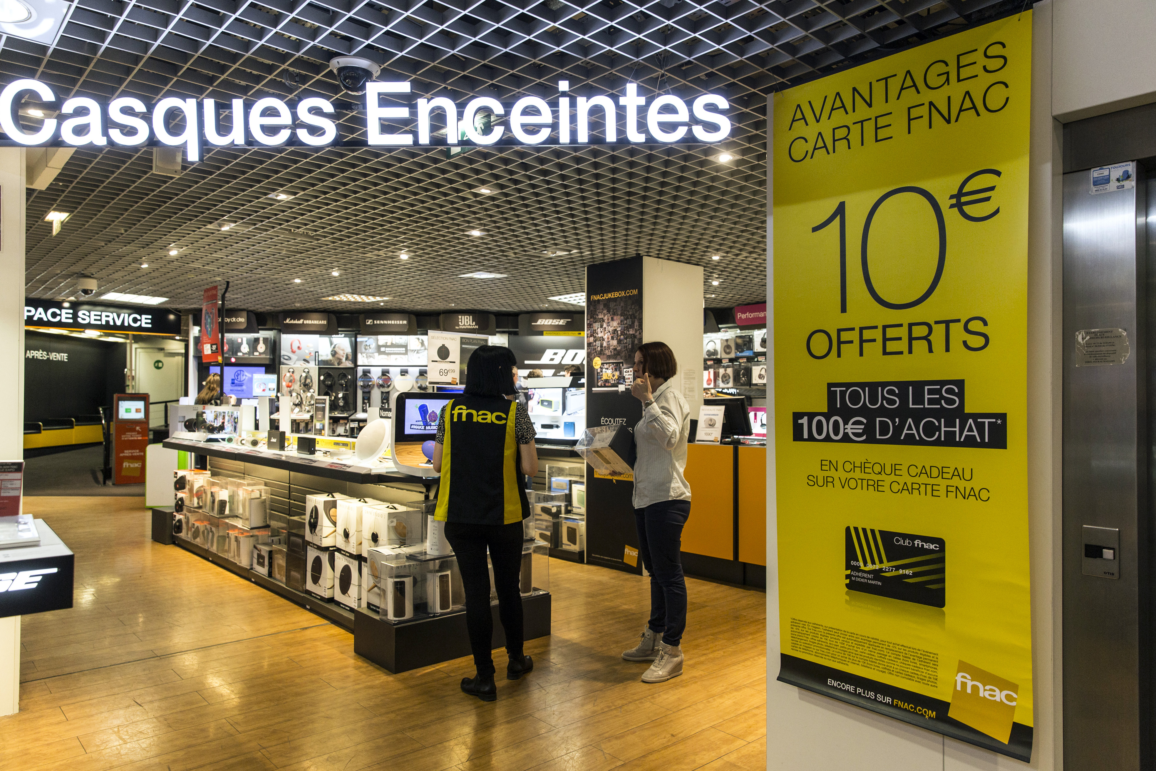 Inside A Groupe Fnac SA Electronic Retail Store
