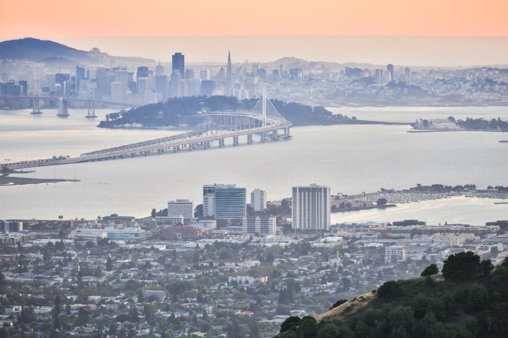 Sunset over San Francisco, as seen from Berkeley Hills