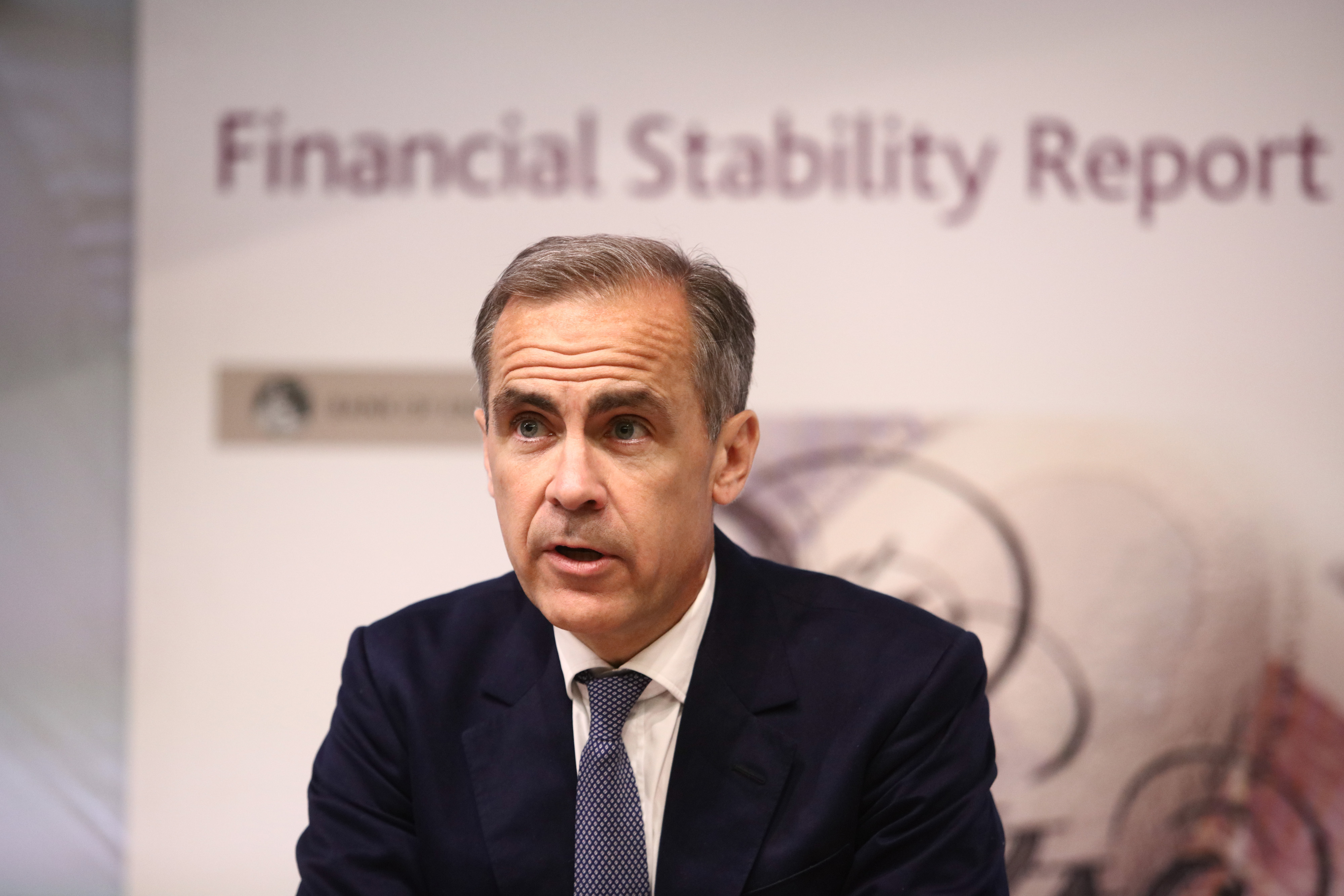 Bank of England Governor Mark Carney Delivers A News Conference On The Banks Financial Stability Report