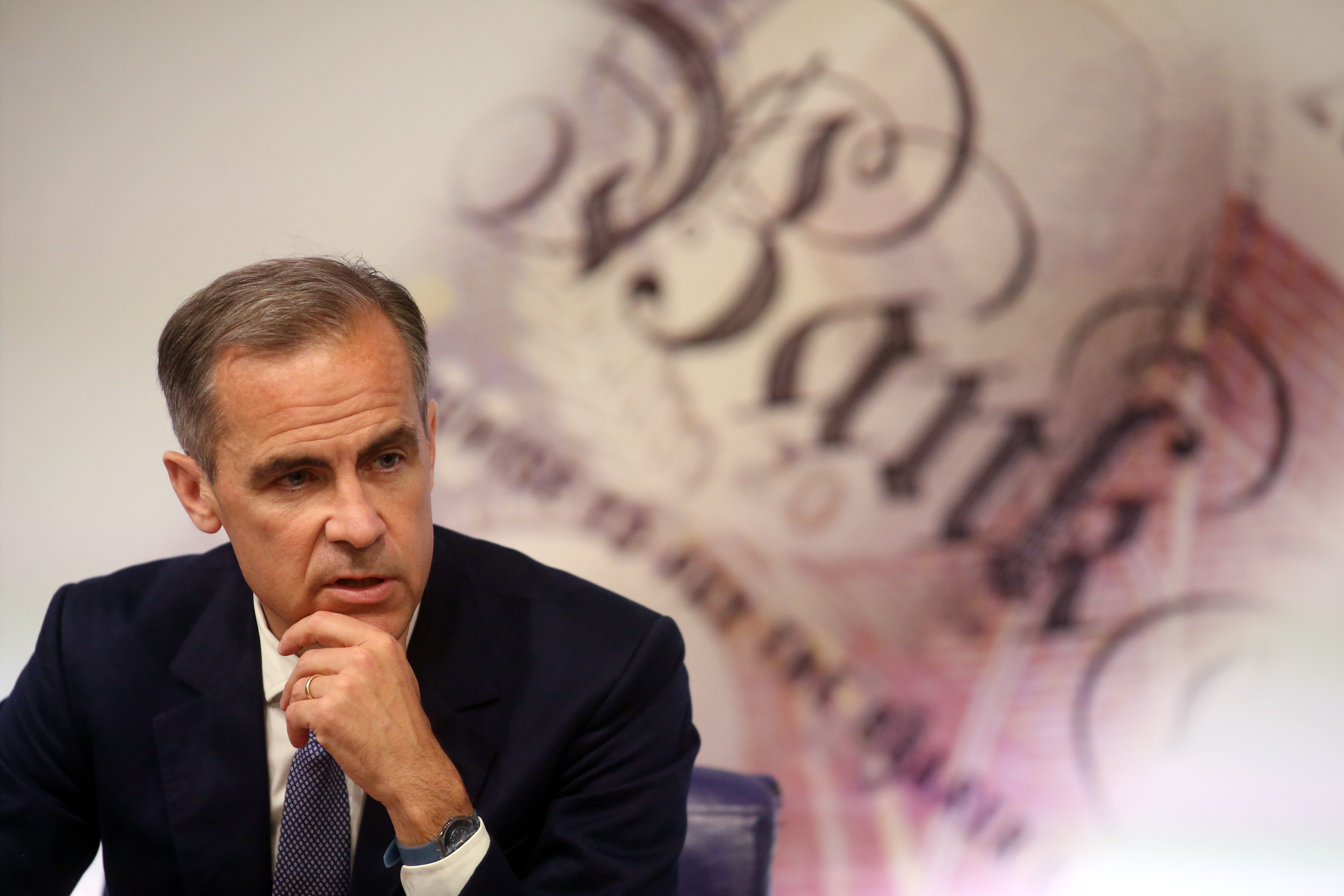 Bank of England Governor Mark Carney Delivers A News Conference On The Bank's Financial Stability Report
