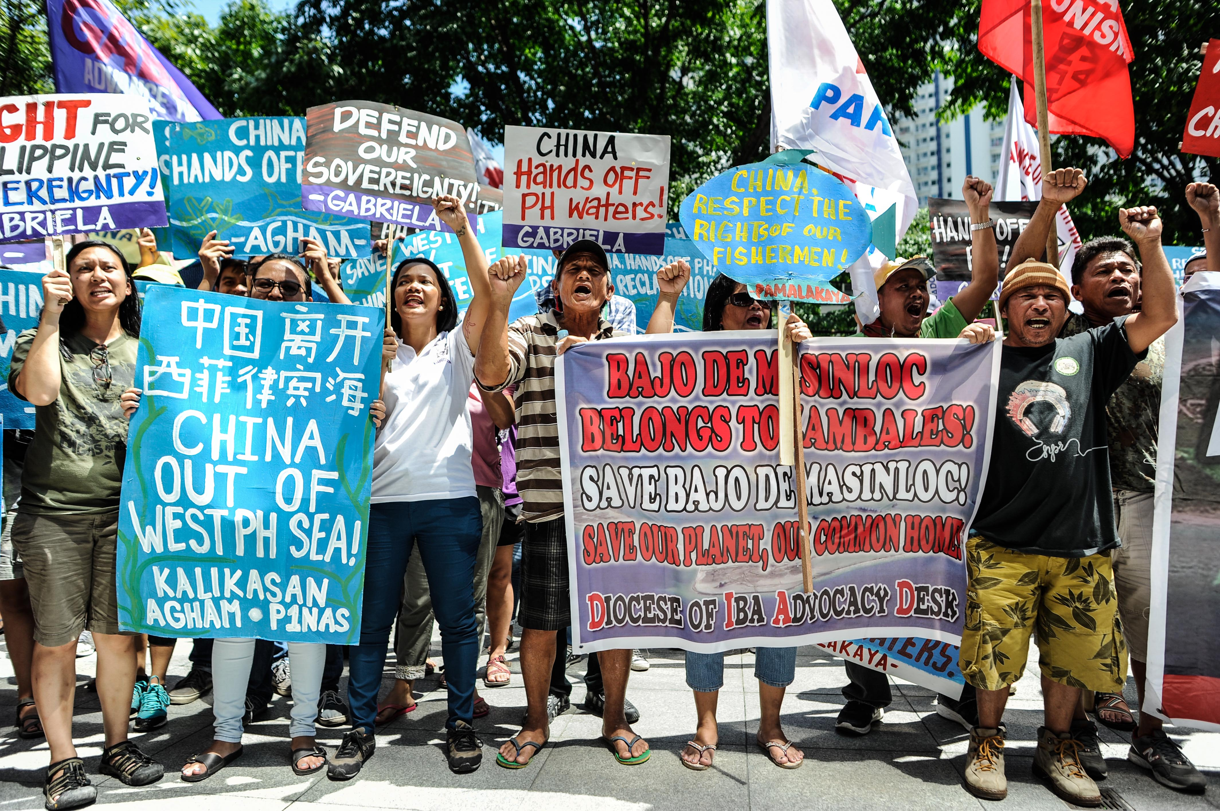 Rallies In Manila Over The South China Sea Dispute