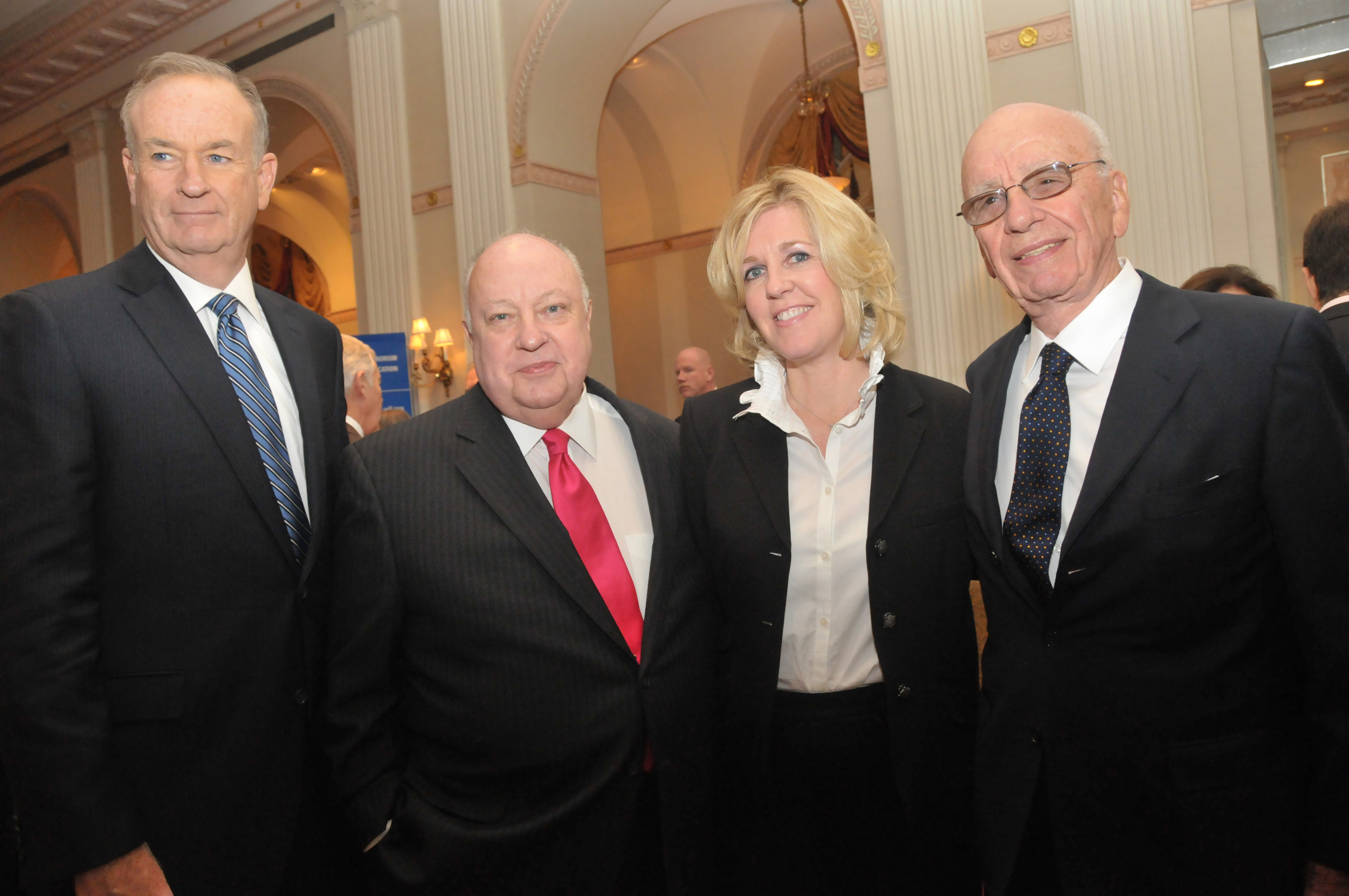 O'Reilly, Roger Ailes And Wife Elizabeth, And Ruper Murdoch