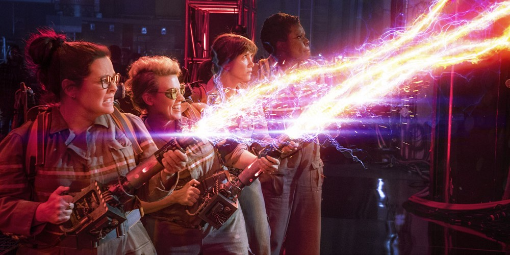 Melissa McCarthy, Kristen Wiig, Leslie Jones and Kate McKinnon are the new Ghostbusters.
