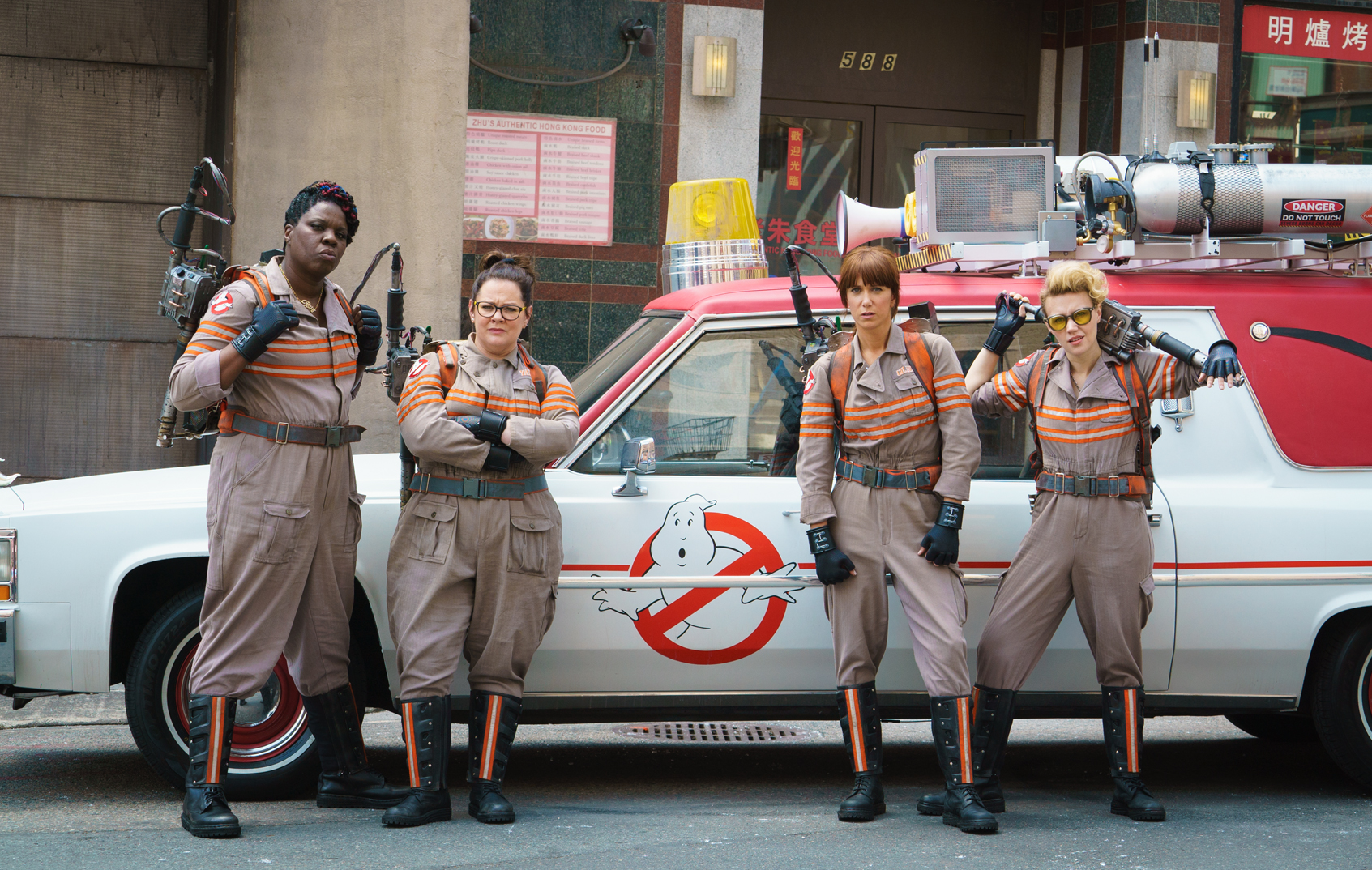 The cast of the 'Ghostbusters' reboot.