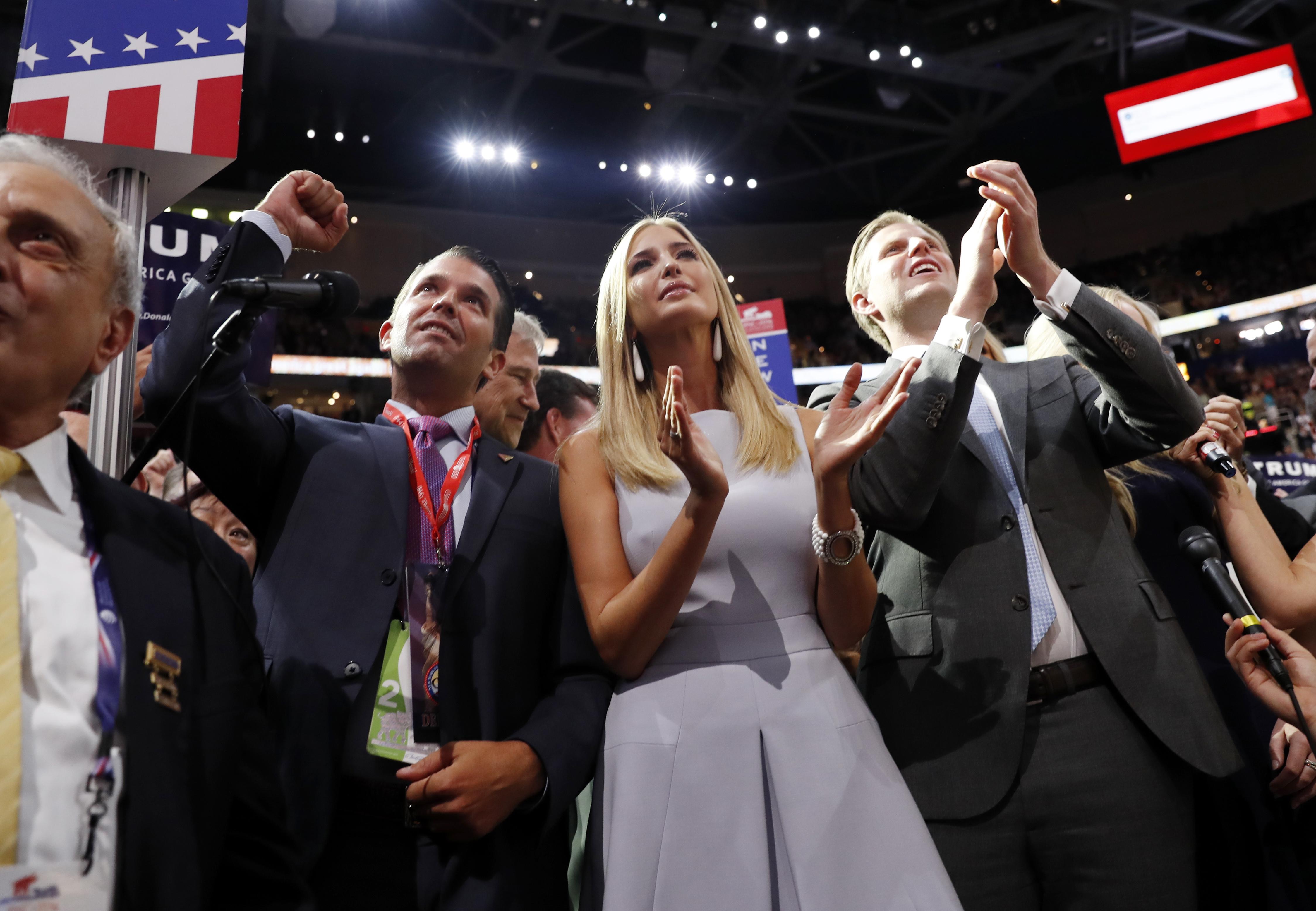 Donald Trump, Jr., Ivanka Trump, Eric Trump