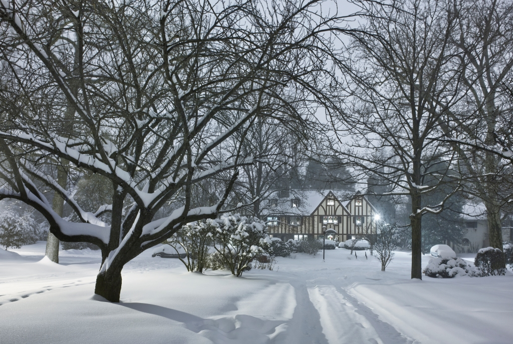 Tutor House in the Snow