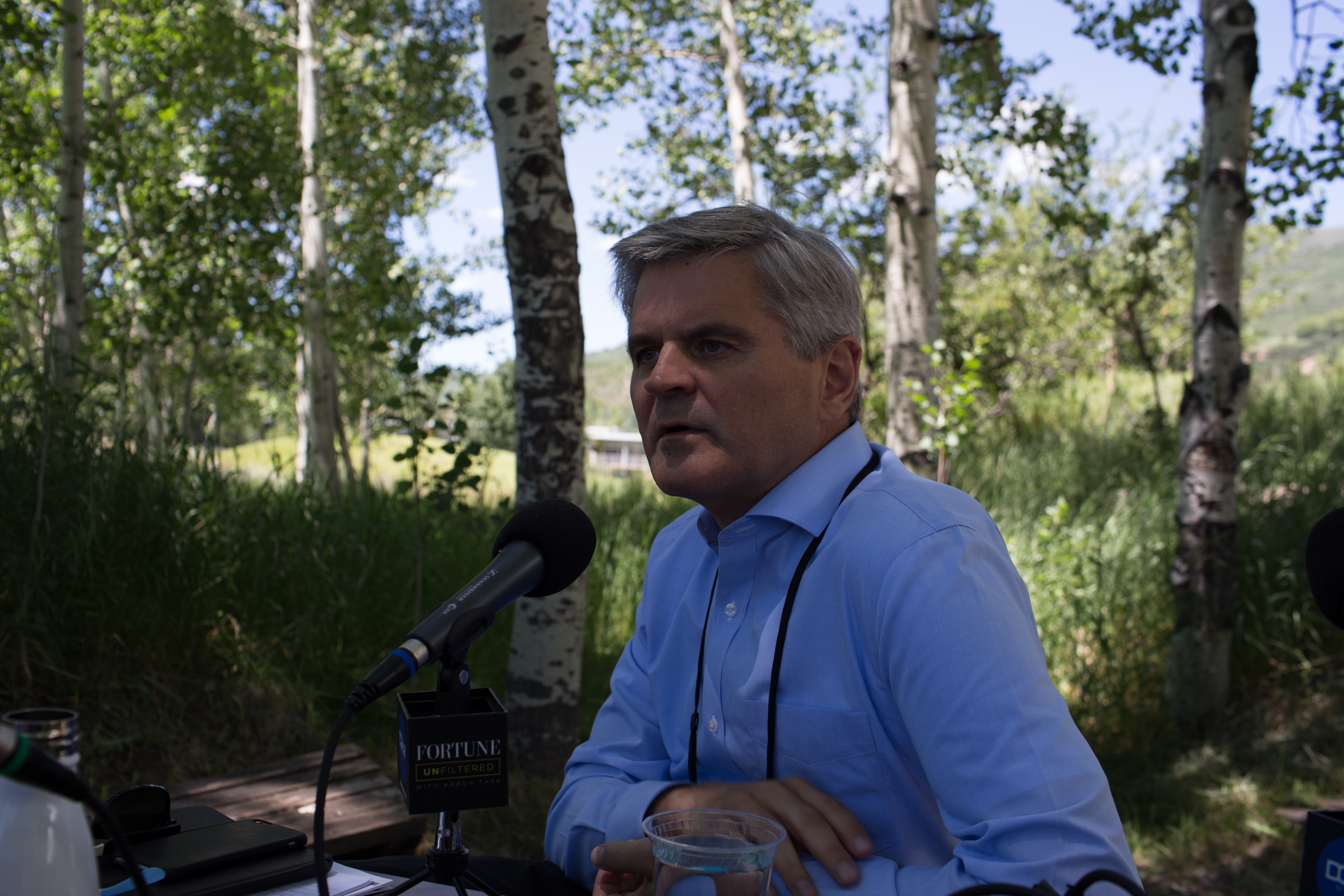 Steve Case during a taping of our podcast Fortune Unfiltered.