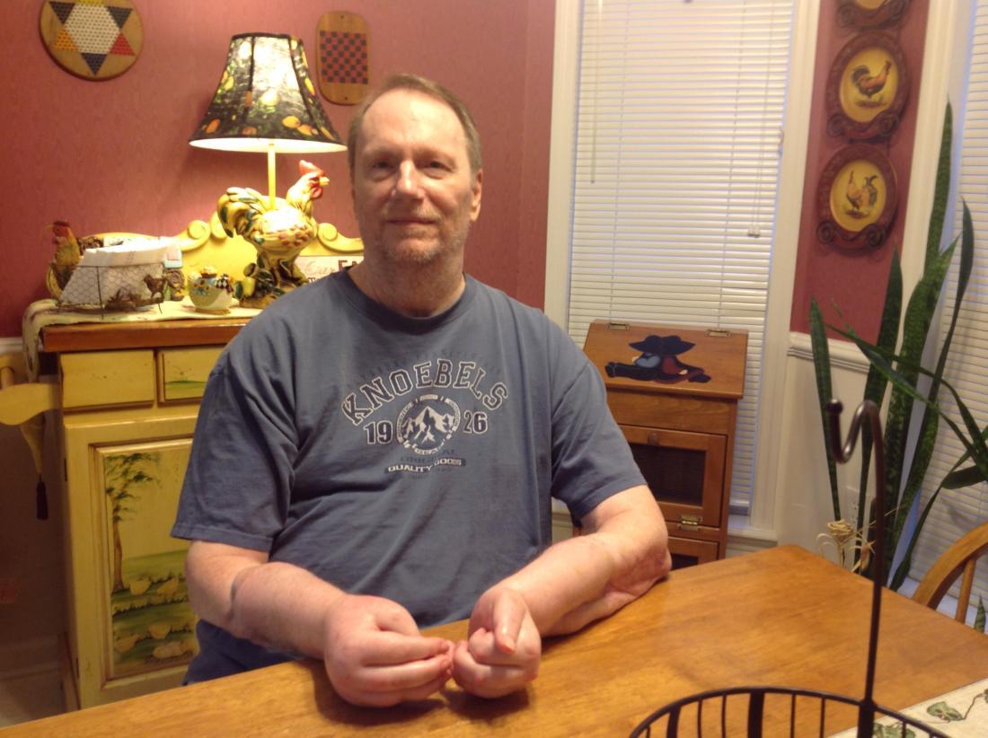 Jeff Kepner in his home.