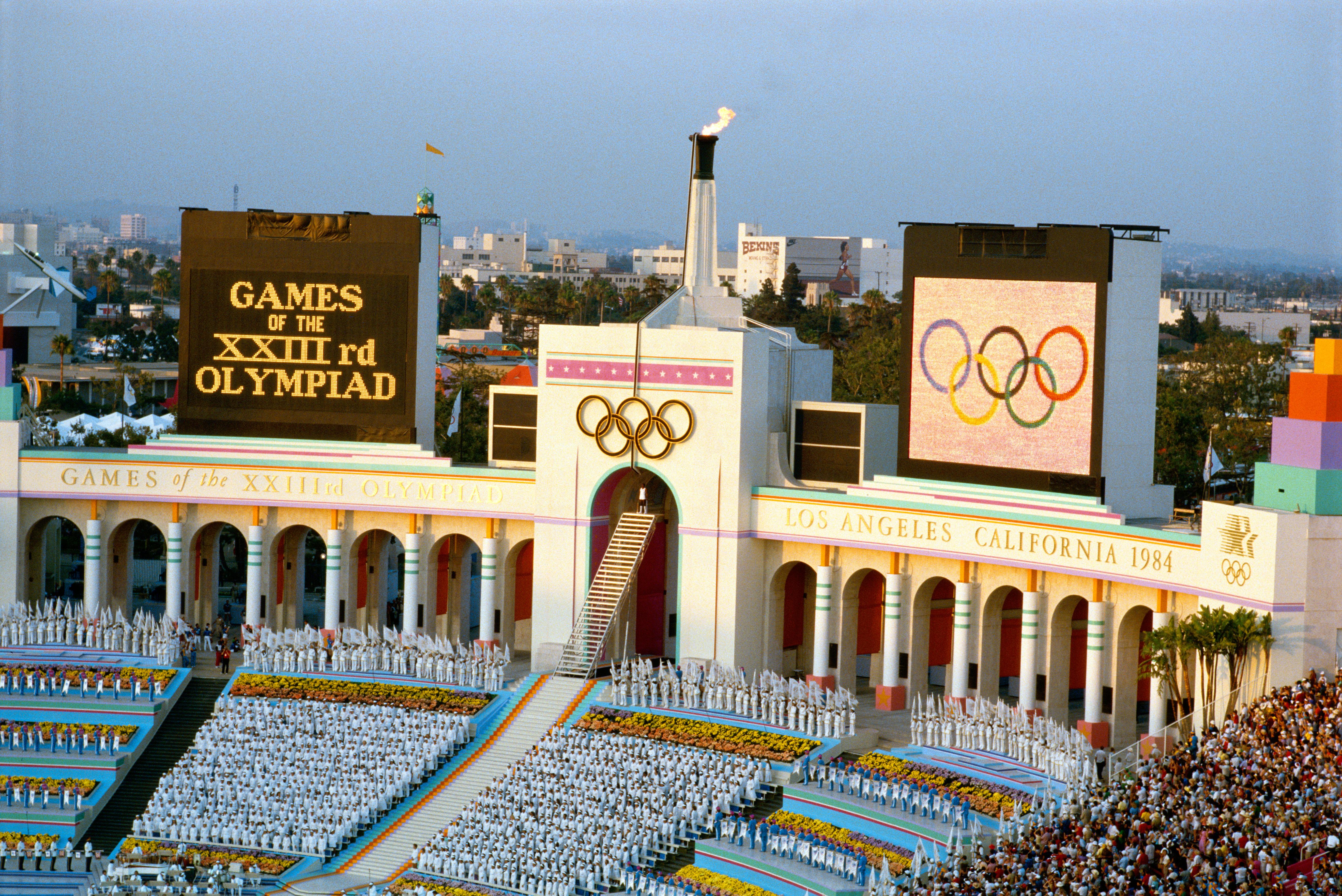 OPENING CEREMONY 1984 OLYMPICS