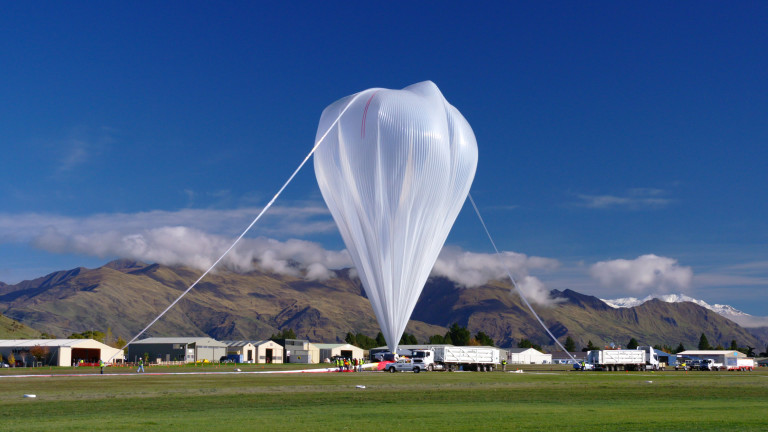 NASA's Super Pressure Balloon preparing for takeoff in New Zealand, at the outset of its trip.