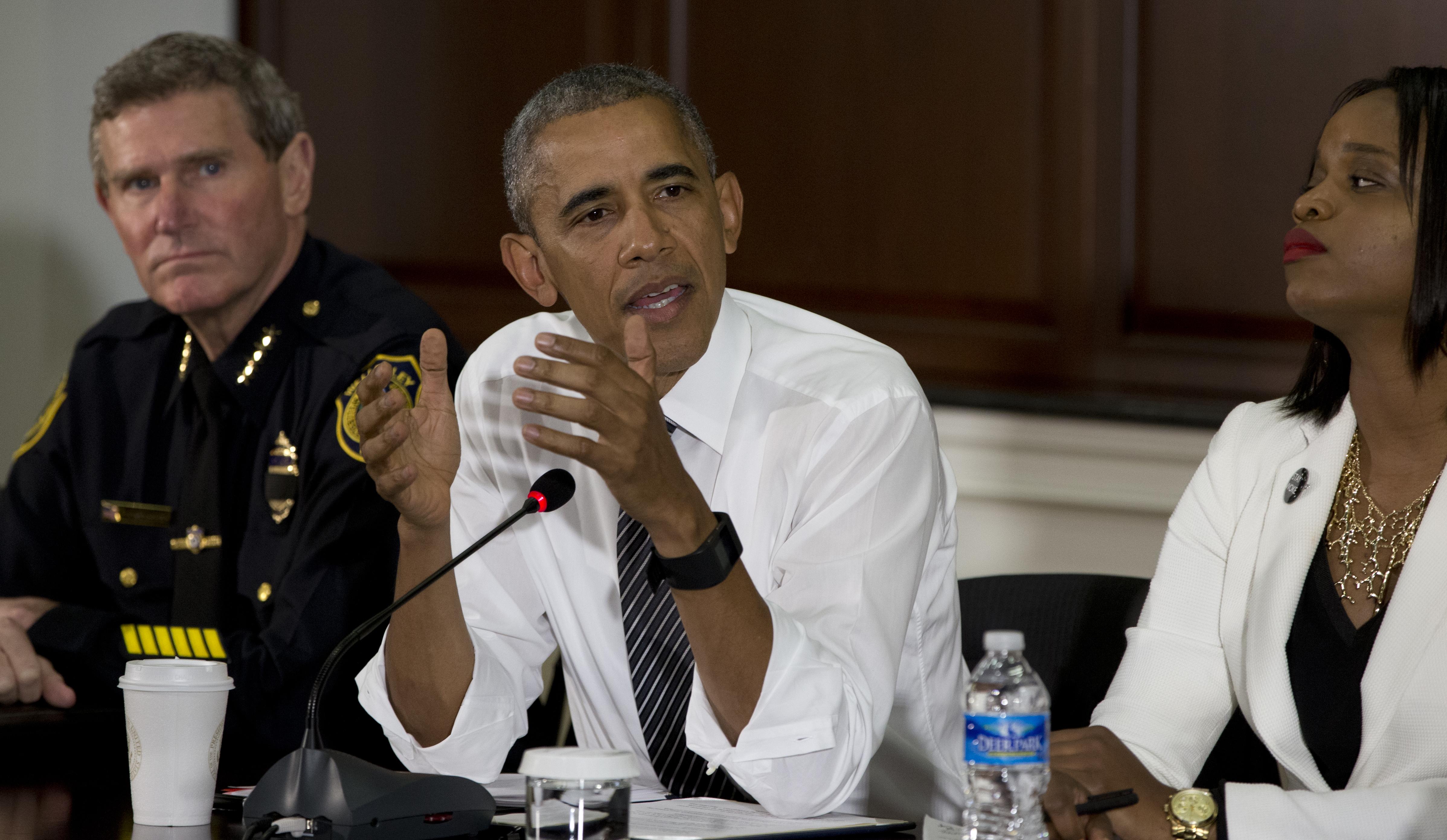 Barack Obama, Brittany Packnett, Terry Cunningham