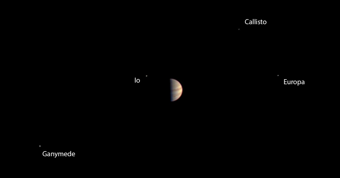 The final view taken by the JunoCam instrument on NASA's Juno spacecraft before Juno's instruments were powered down in preparation for orbit insertion on July 4.