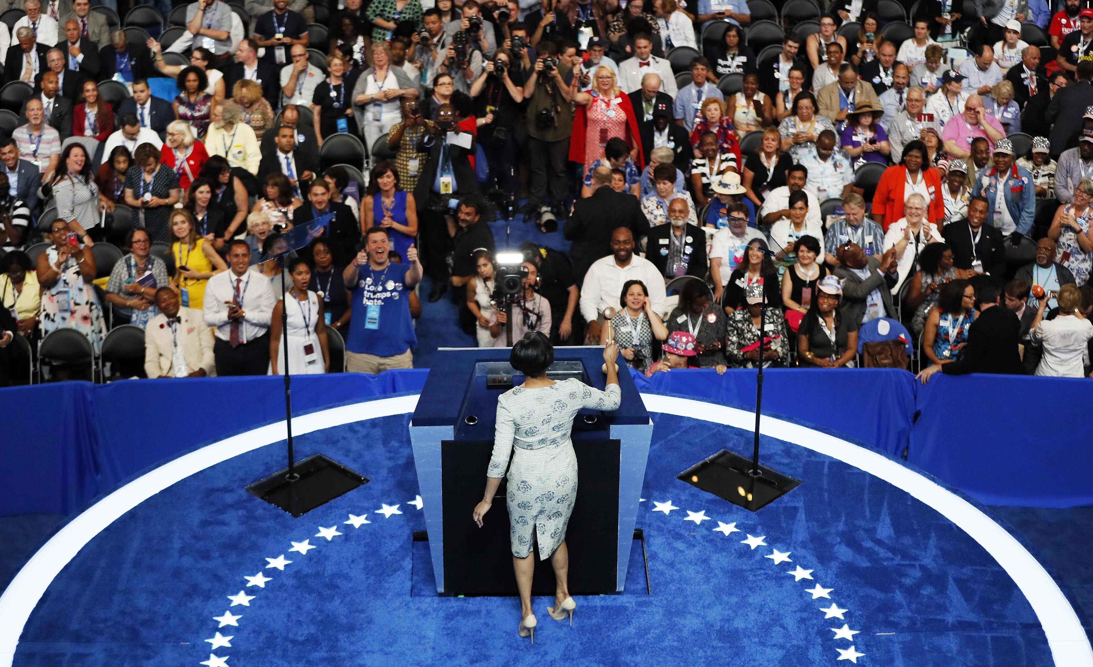 Stephanie Rawlings-Blake gavels-in the Democratic National Convention in Philadelphia