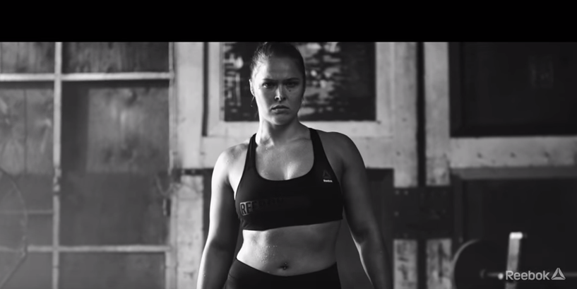 Reebok ad featuring Ronda Rousey