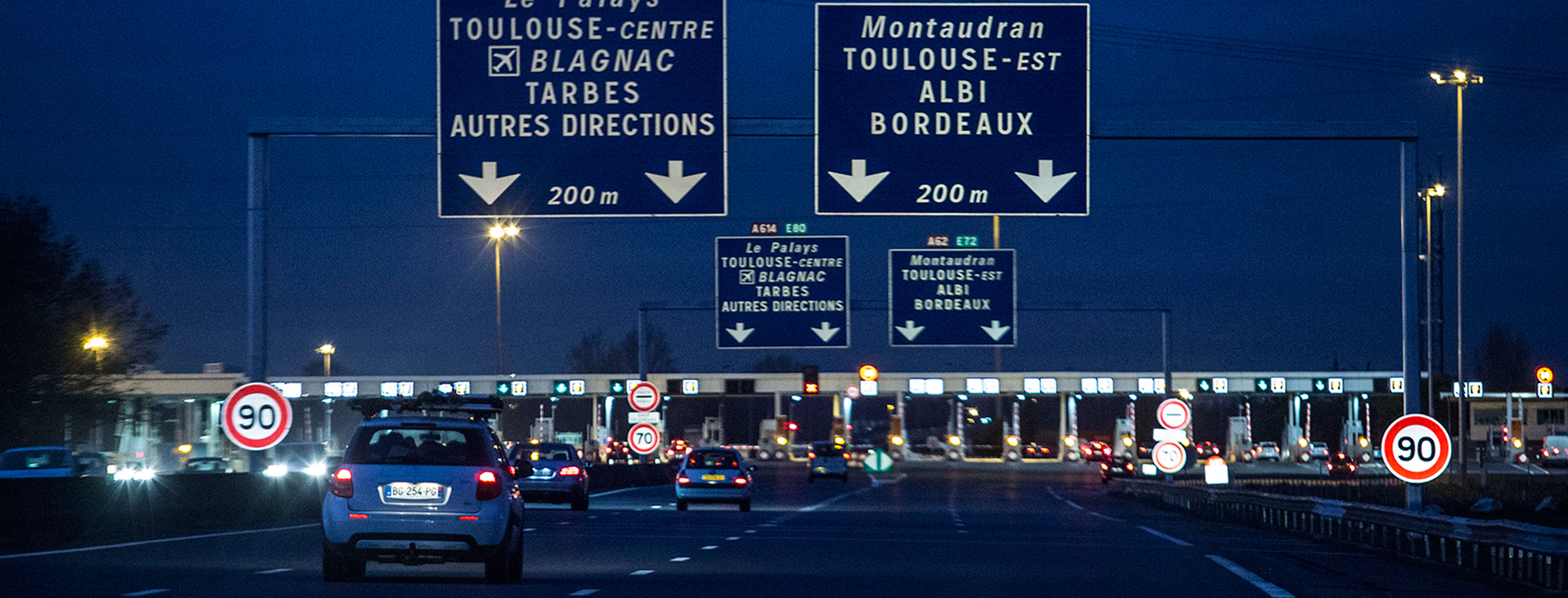 French Highway Toll Booths As Government Considers Fee Reduction