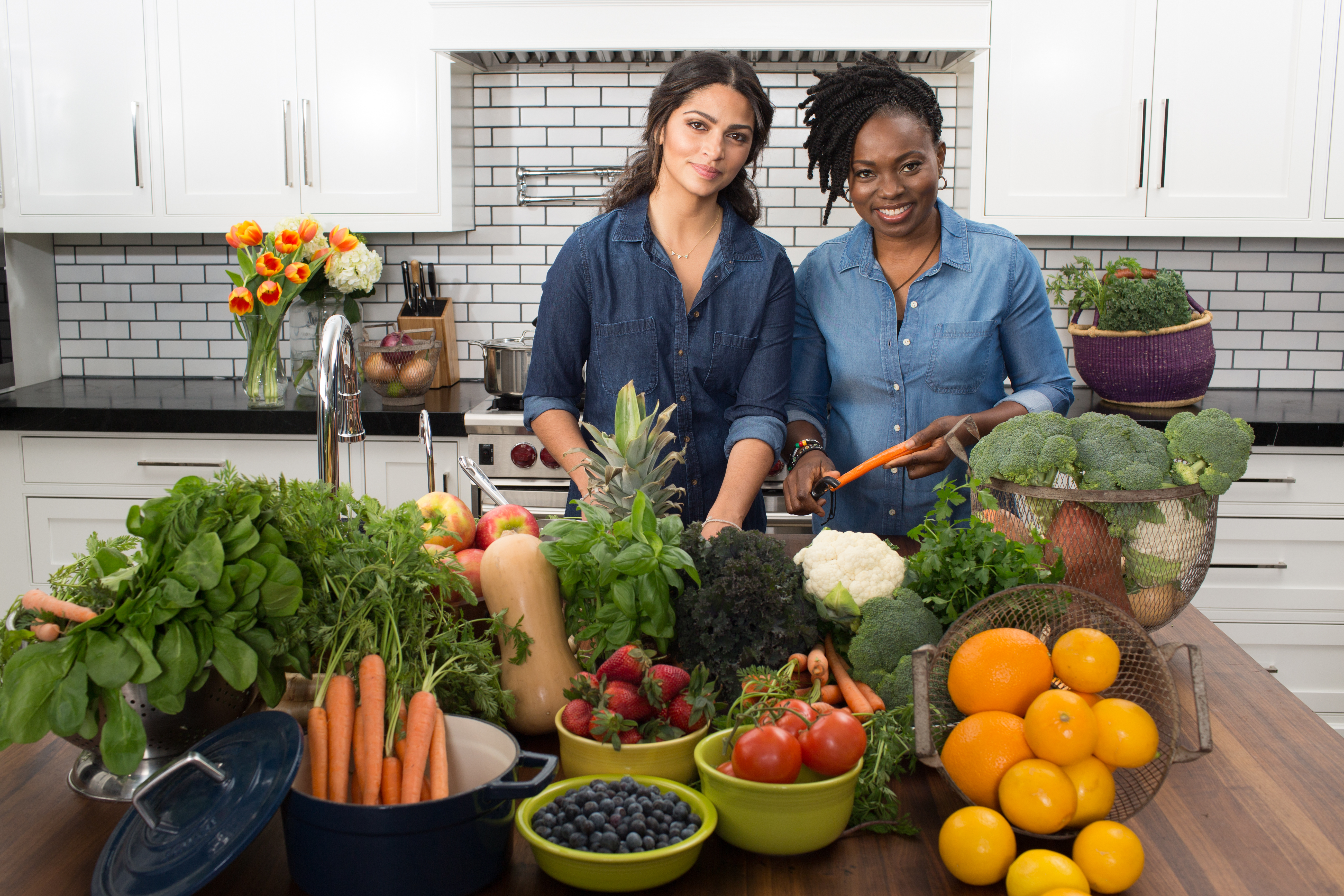 Yummy Spoonfuls co-founder Camila Alves (left) and founder Agatha Achindu (right) teamed up to take the baby food business national.