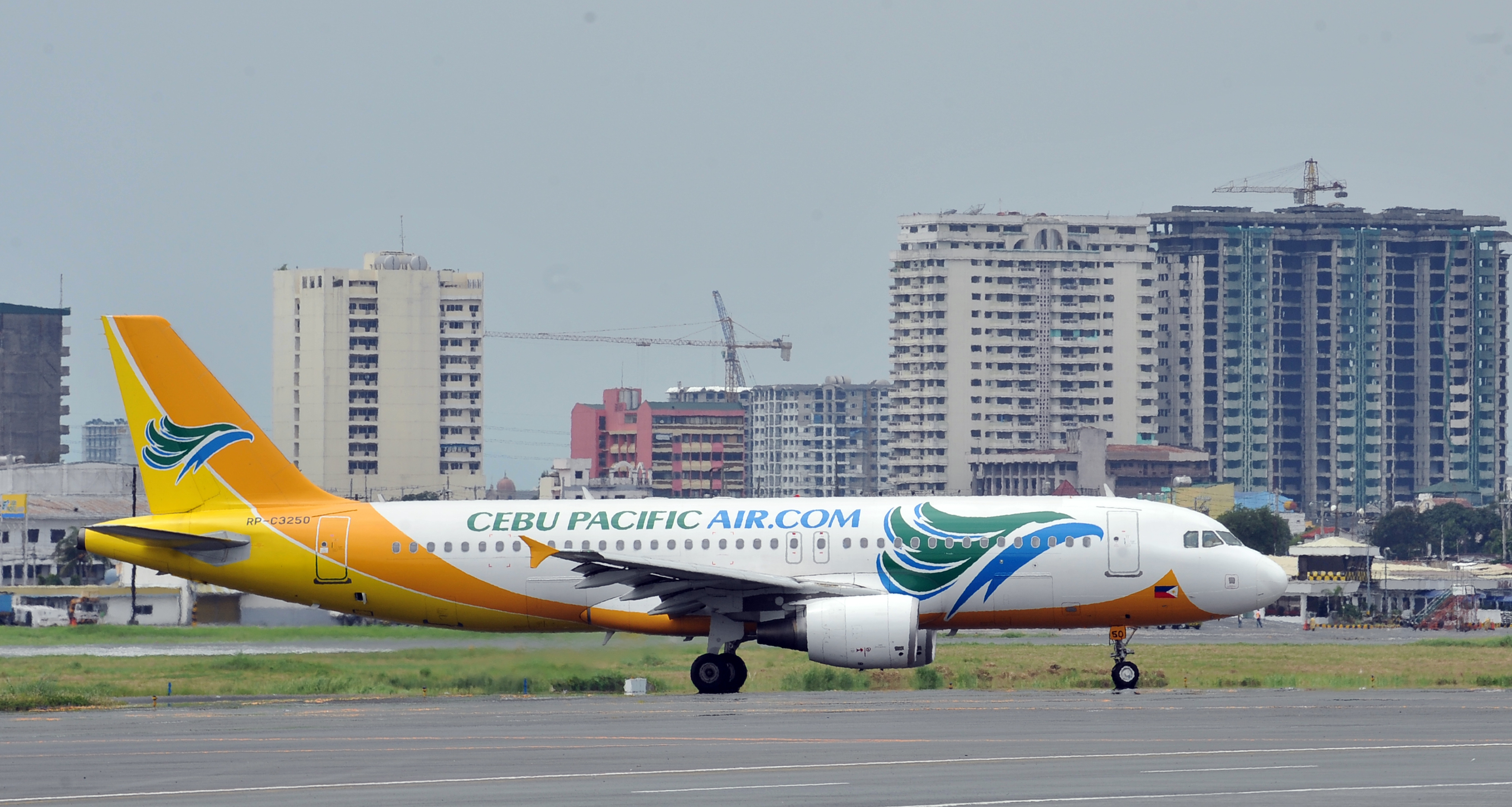 A plane of budget airline Cebu Pacific t