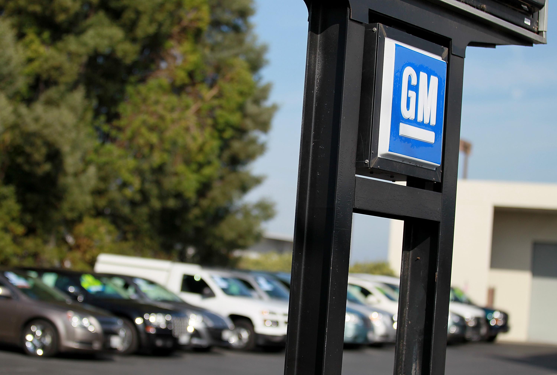 The General Motors logo at Boardwalk Chevrolet in California.