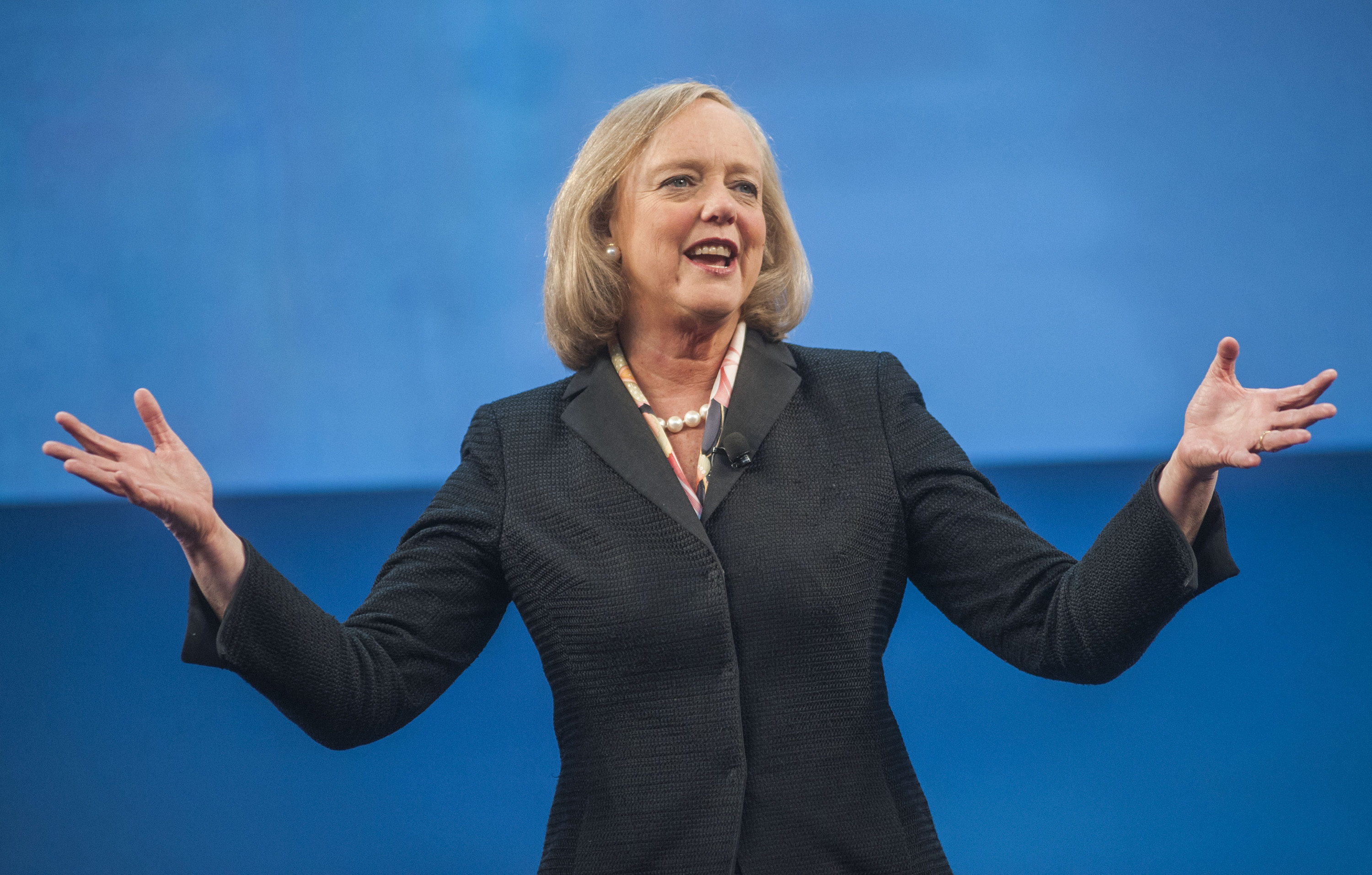 Hewlett-Packard Chief Executive Officer Meg Whitman Delivers Keynote Speech At The HP Discover Conference