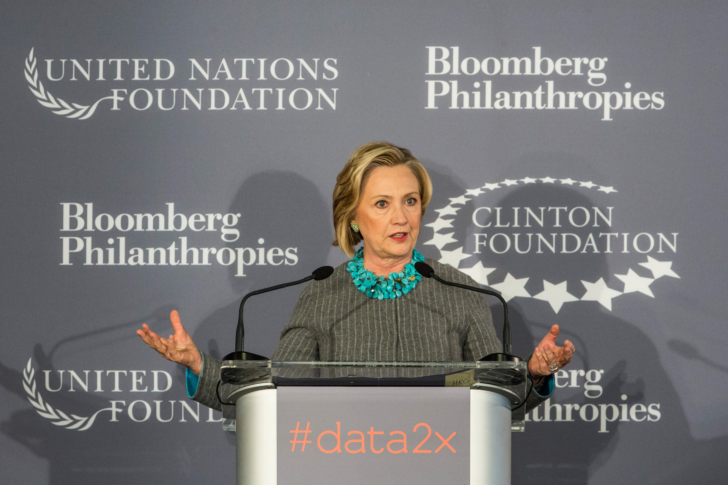 Hillary Clinton And Michael Bloomberg Announce Partnerships To Close Gender Data Gaps