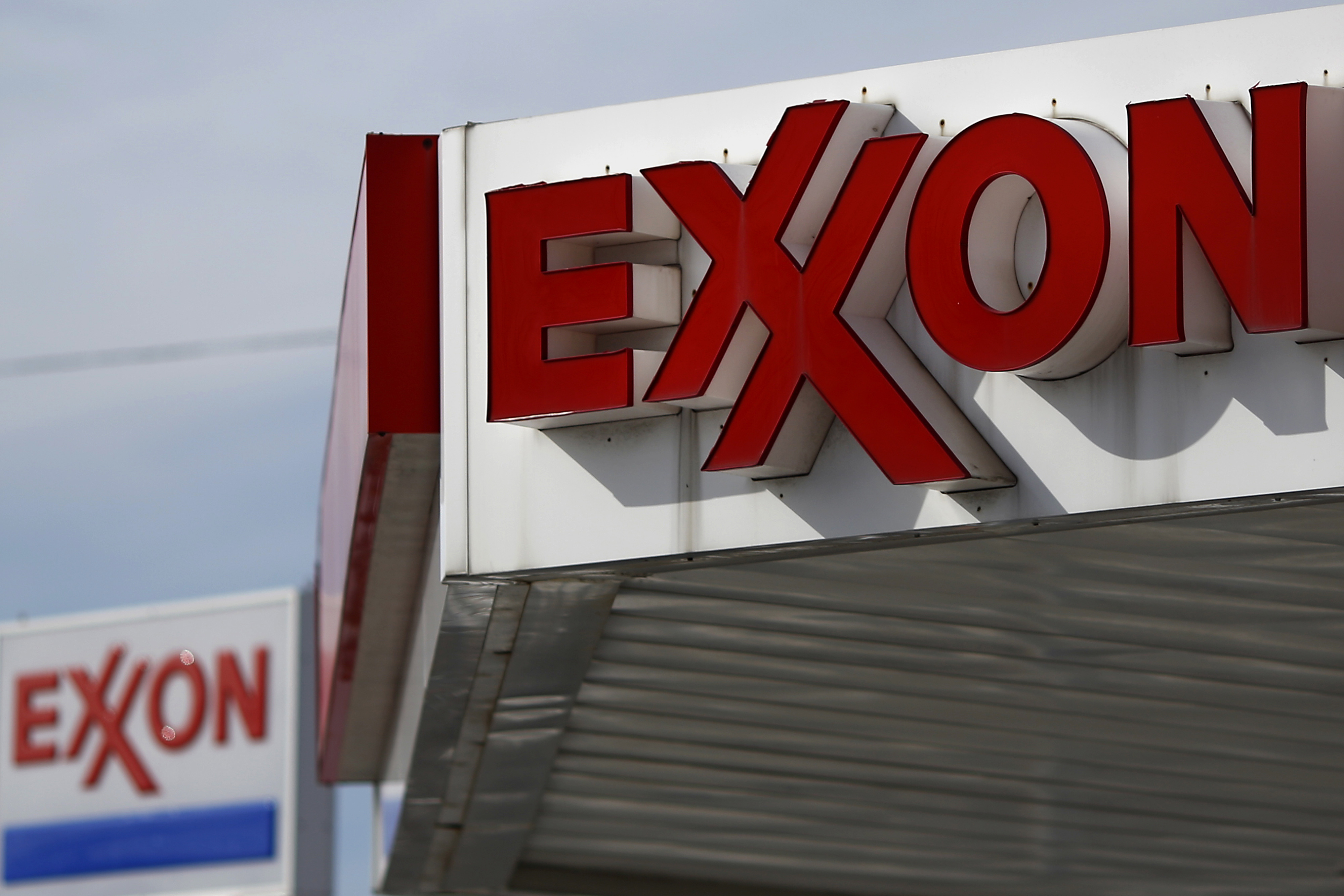 An Exxon Mobil Corp. Station Ahead Of Earnings Figures