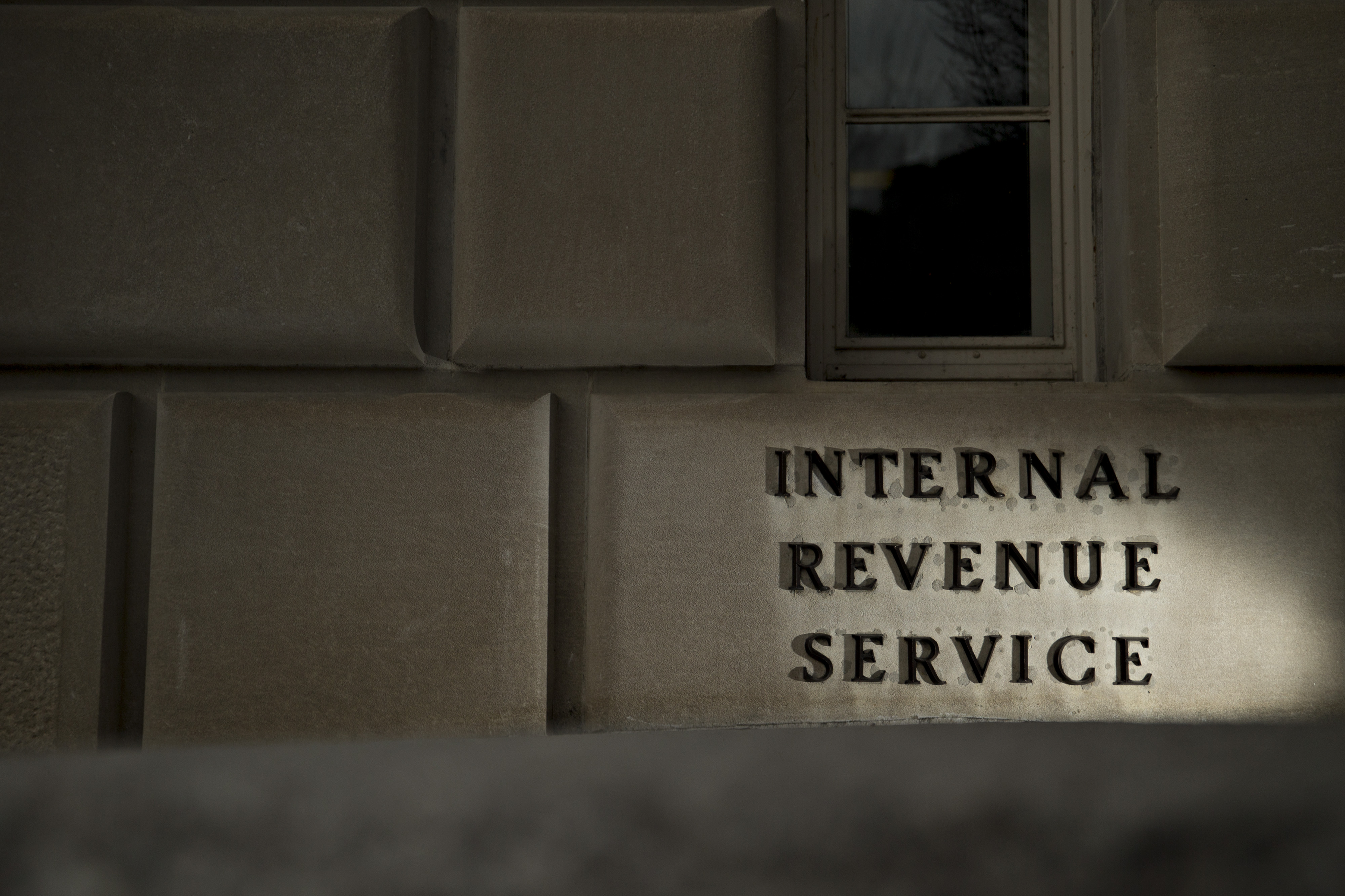 Views Of The IRS Headquarters During Tax Filing Season