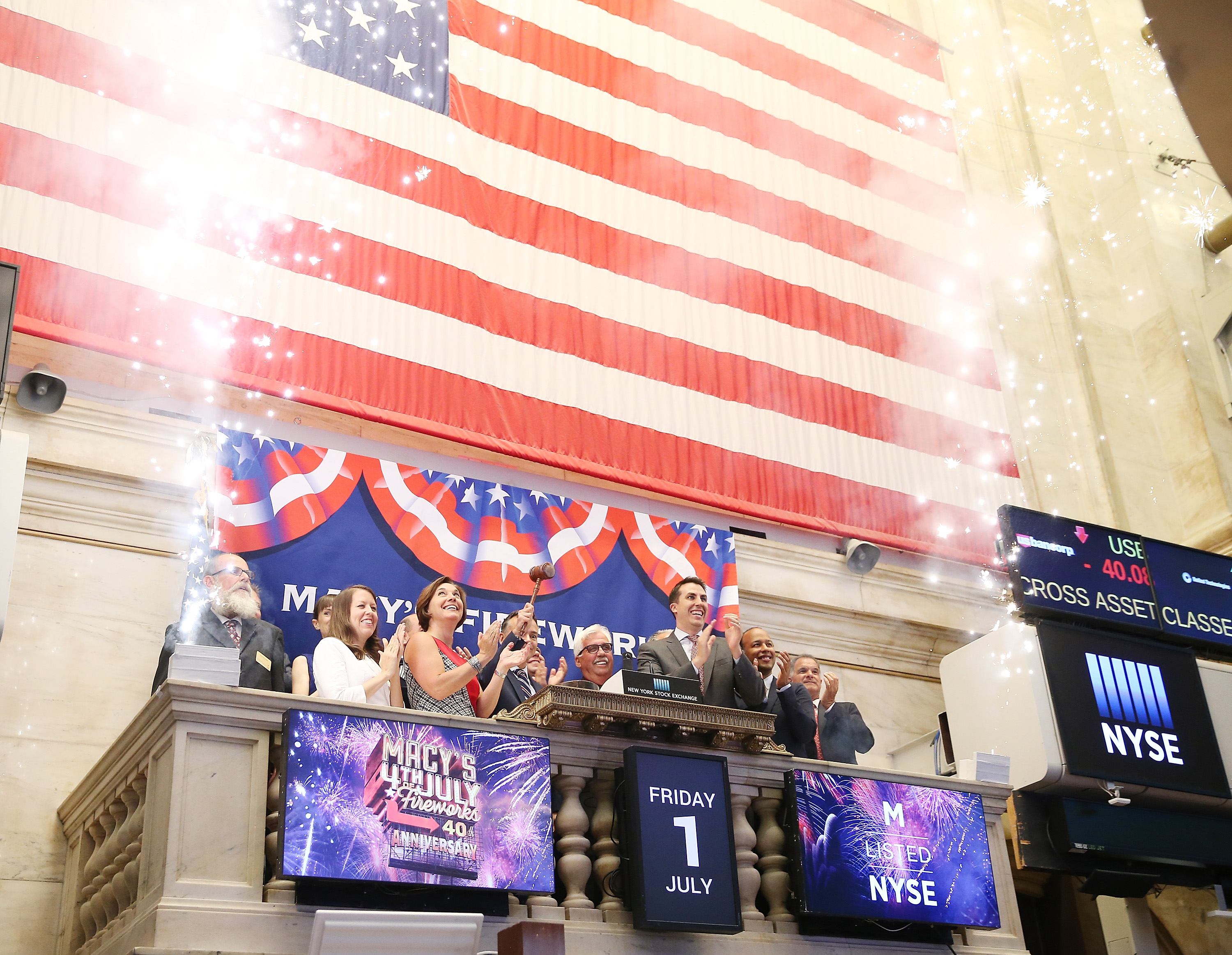 Macy's Rings The New York Stock Exchange Closing Bell To Celebrate Macy's 4th Of July Fireworks