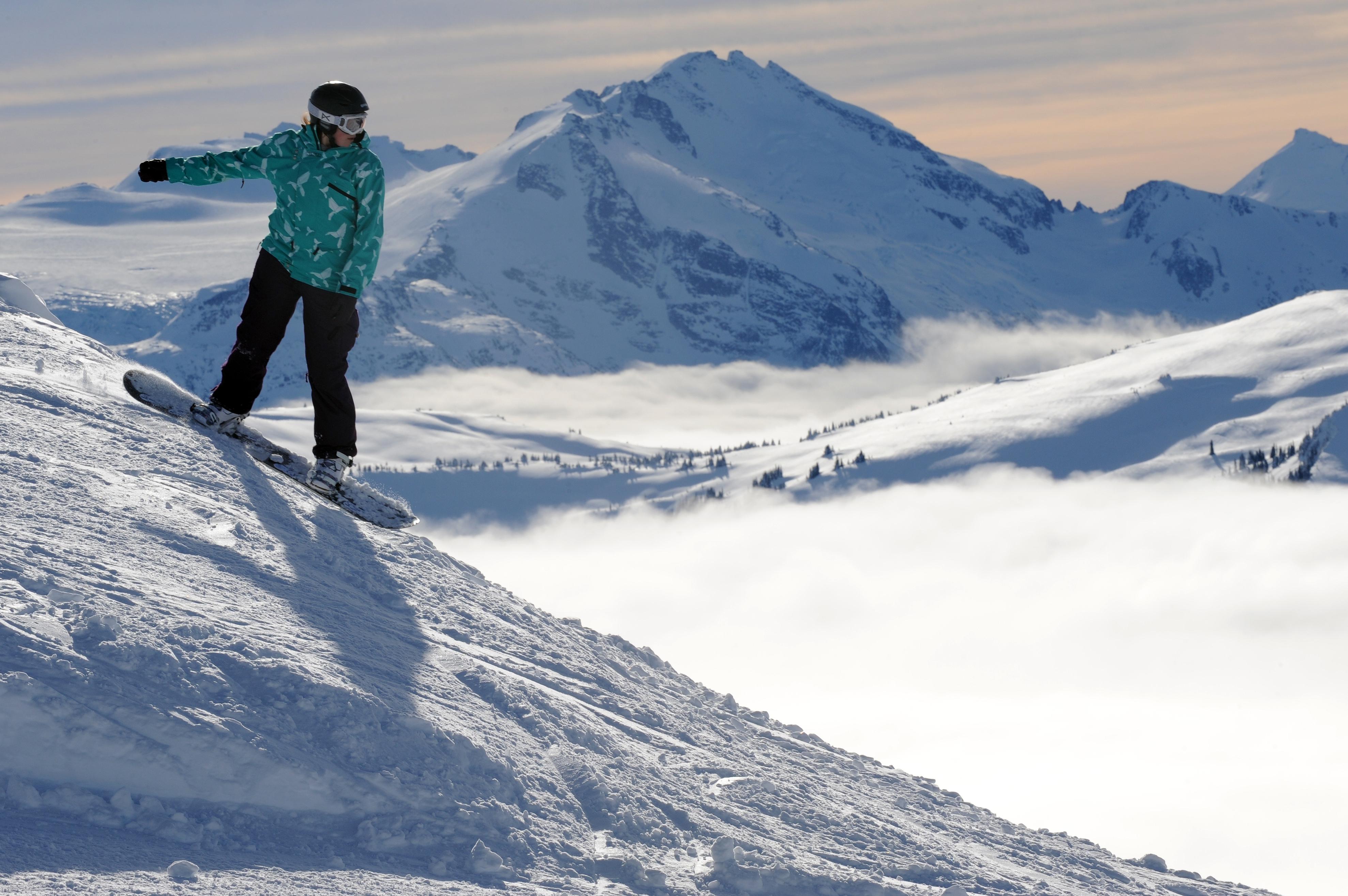 Skiing at Whistler Blackcomb resort, Canada