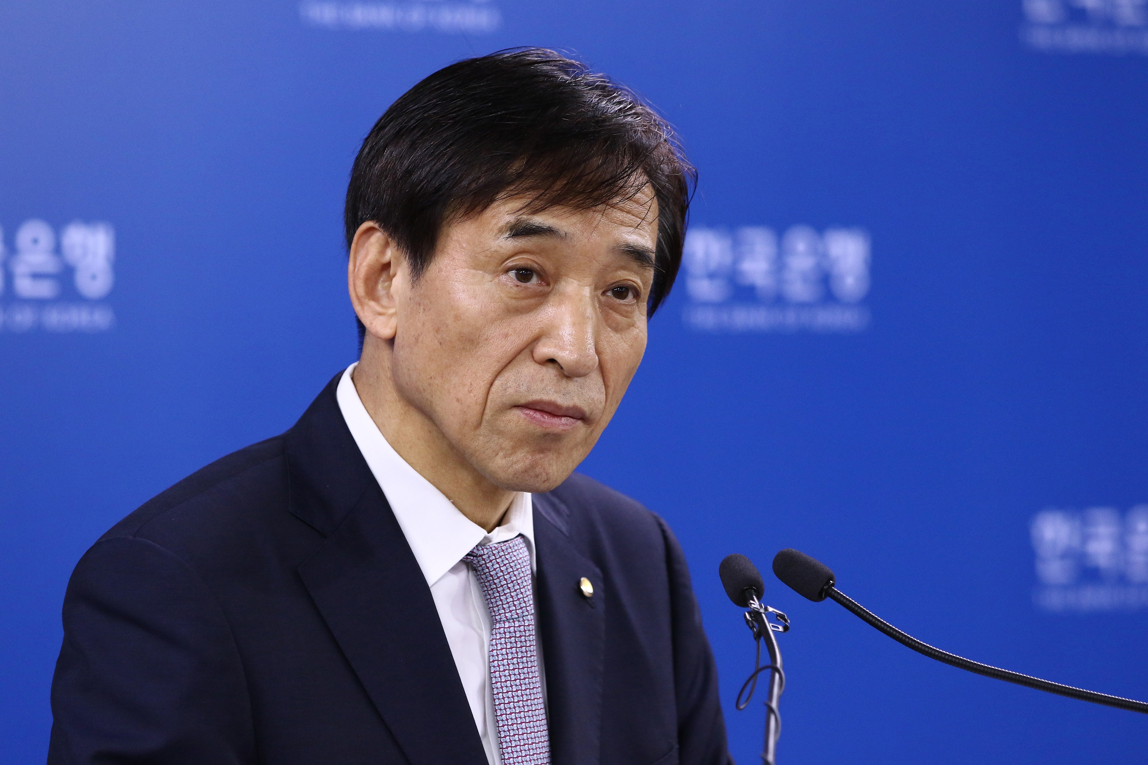 Bank Of Korea Governor Lee Ju Yeol At Rate Decision Meeting As Key Rate Held Steady To Gauge Budget Impact